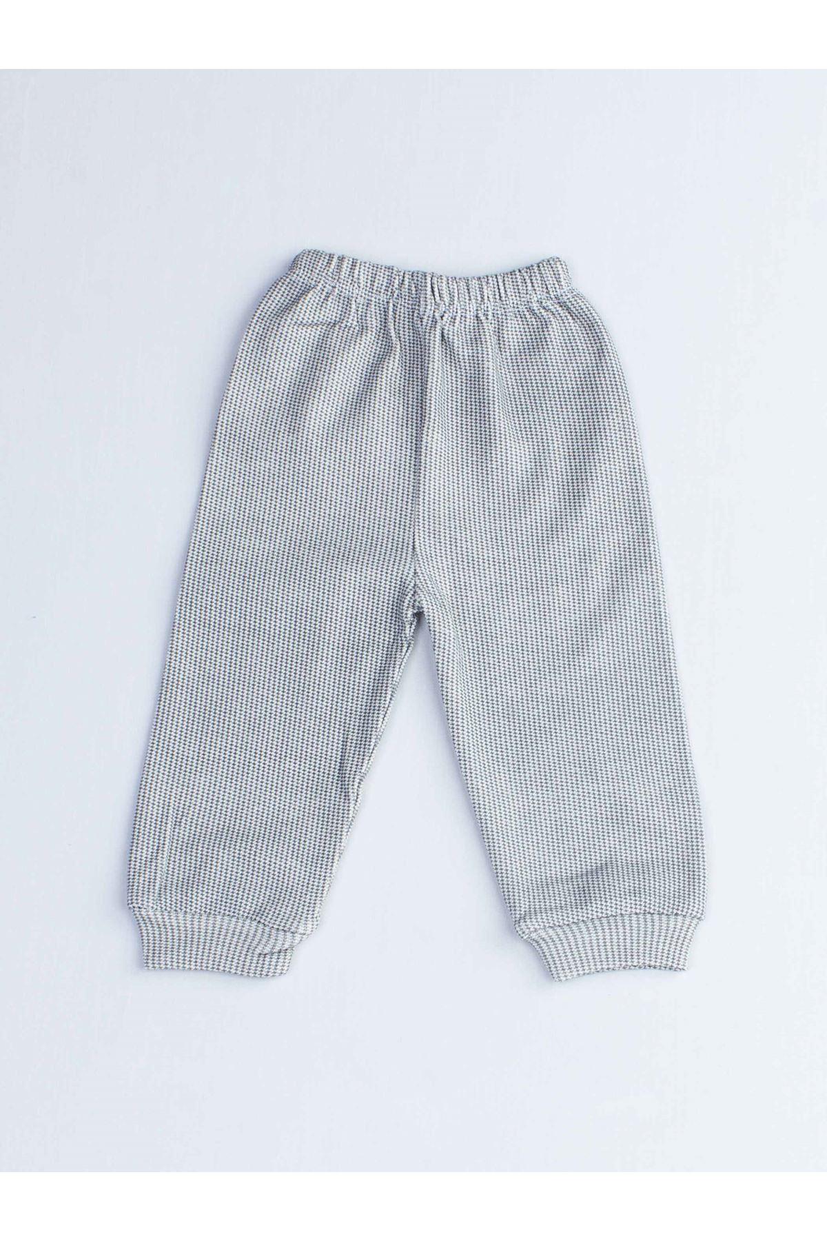 Gray Dog Male Baby Pajamas set