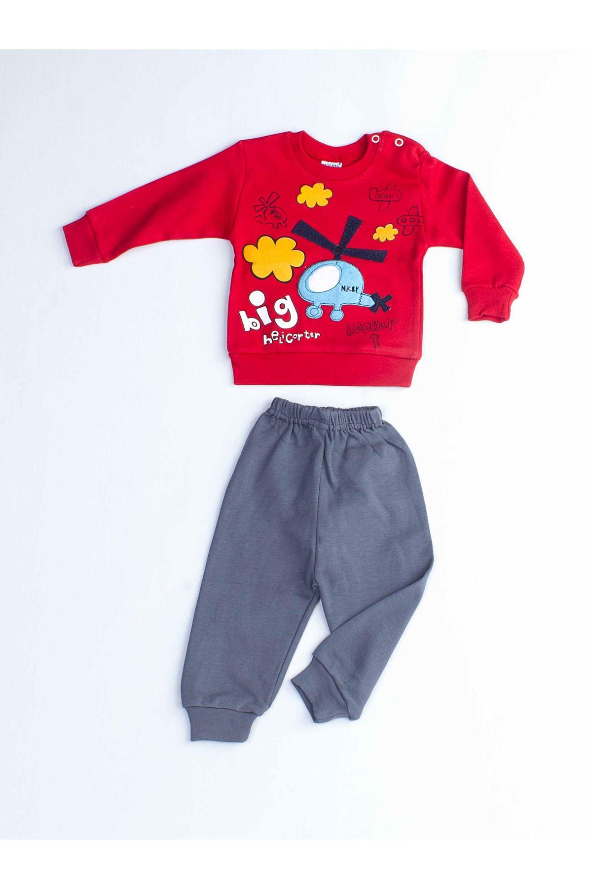 Kırmızı Erkek Bebek 2 li Takım