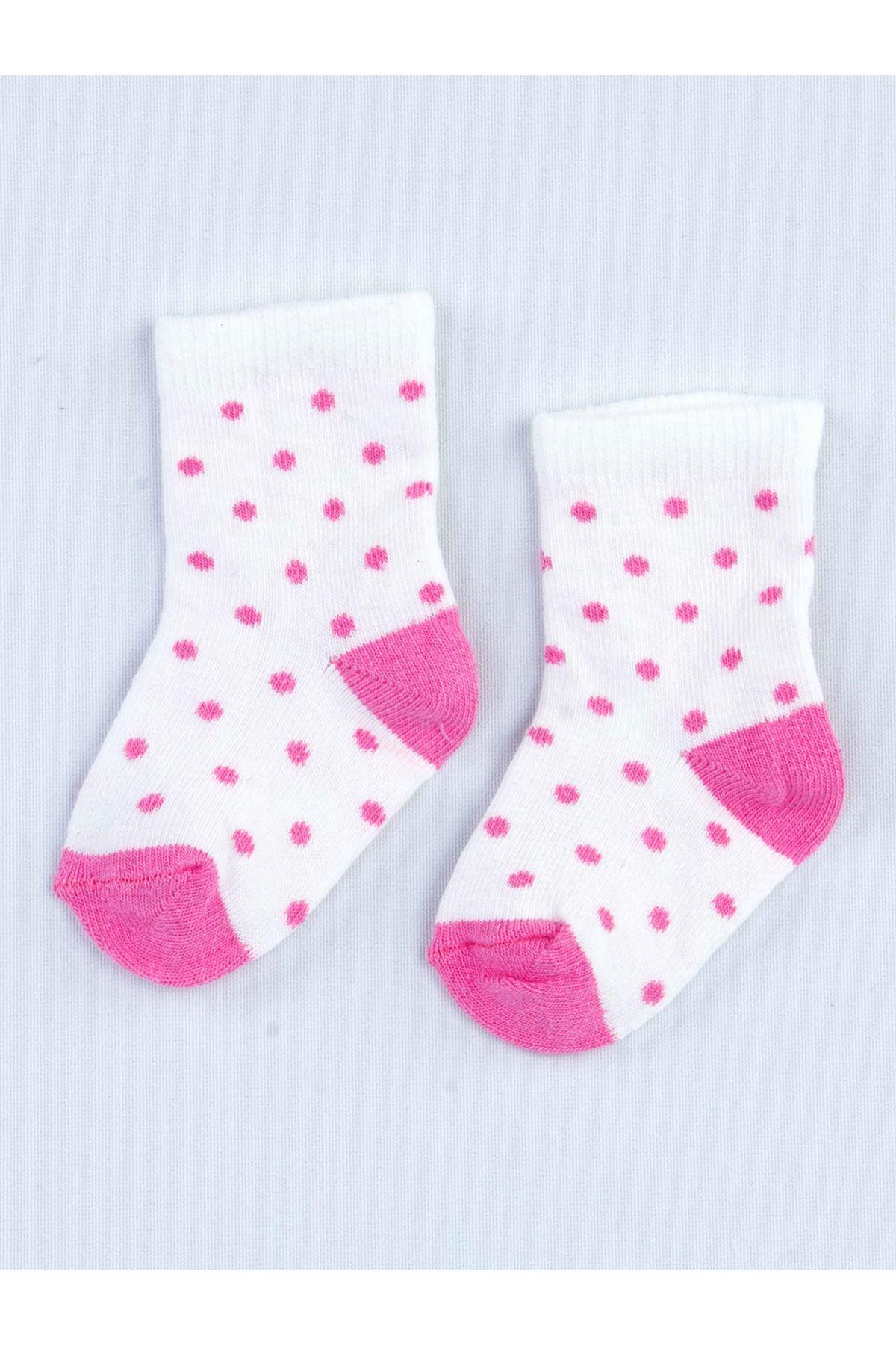 Beyaz Kokulu Kız Bebek 2 li Çorap
