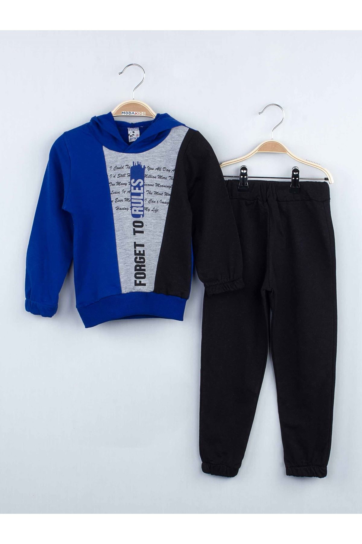 Saks Boys Child Hooded 2 Piece Bottom Tracksuit Suit Top Sweat Wear Kids Outfit Seasonal 2021 Fashion Cotton Daily Daily use Mod