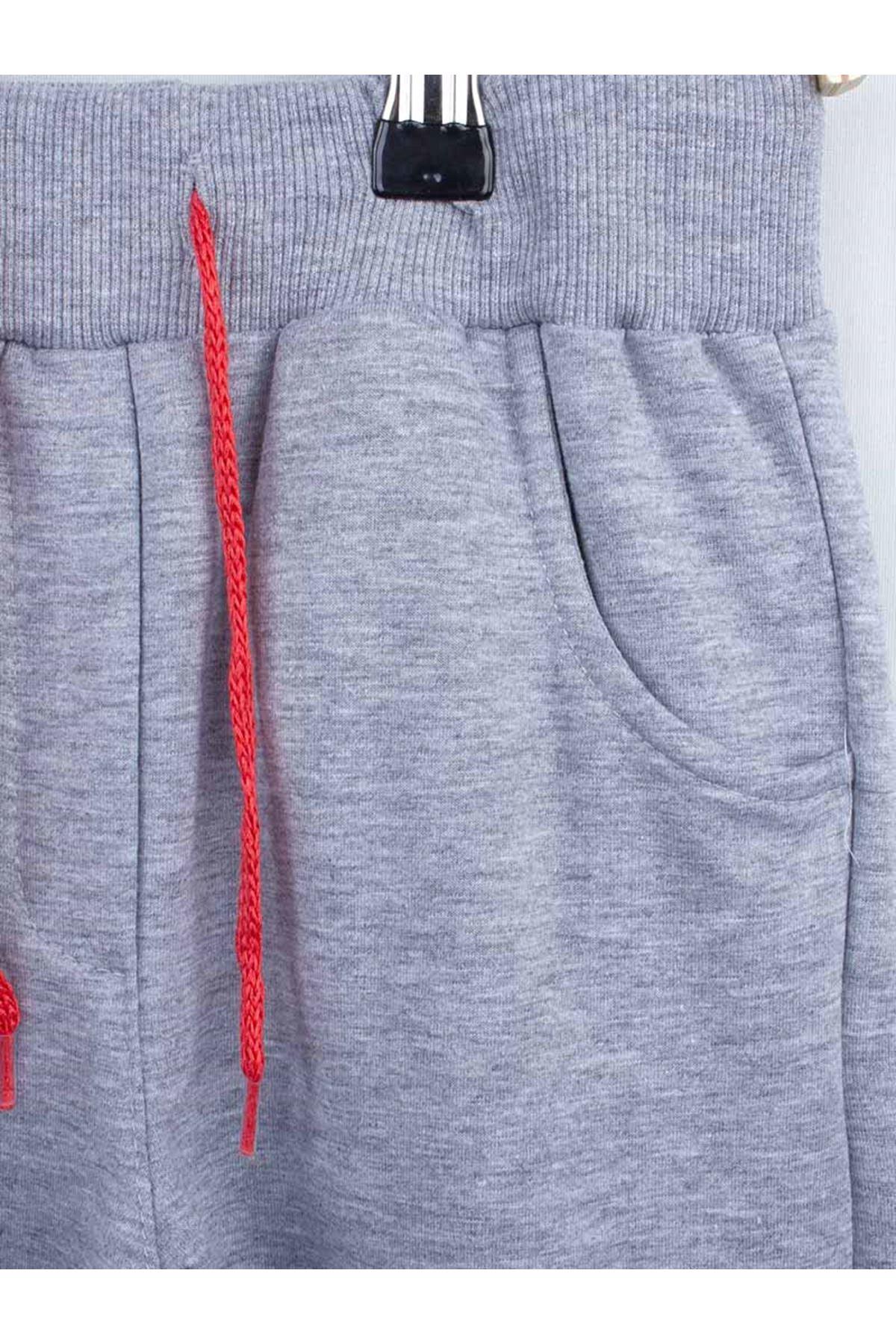 Gray Seasonal Hooded Female Child Tracksuit Set