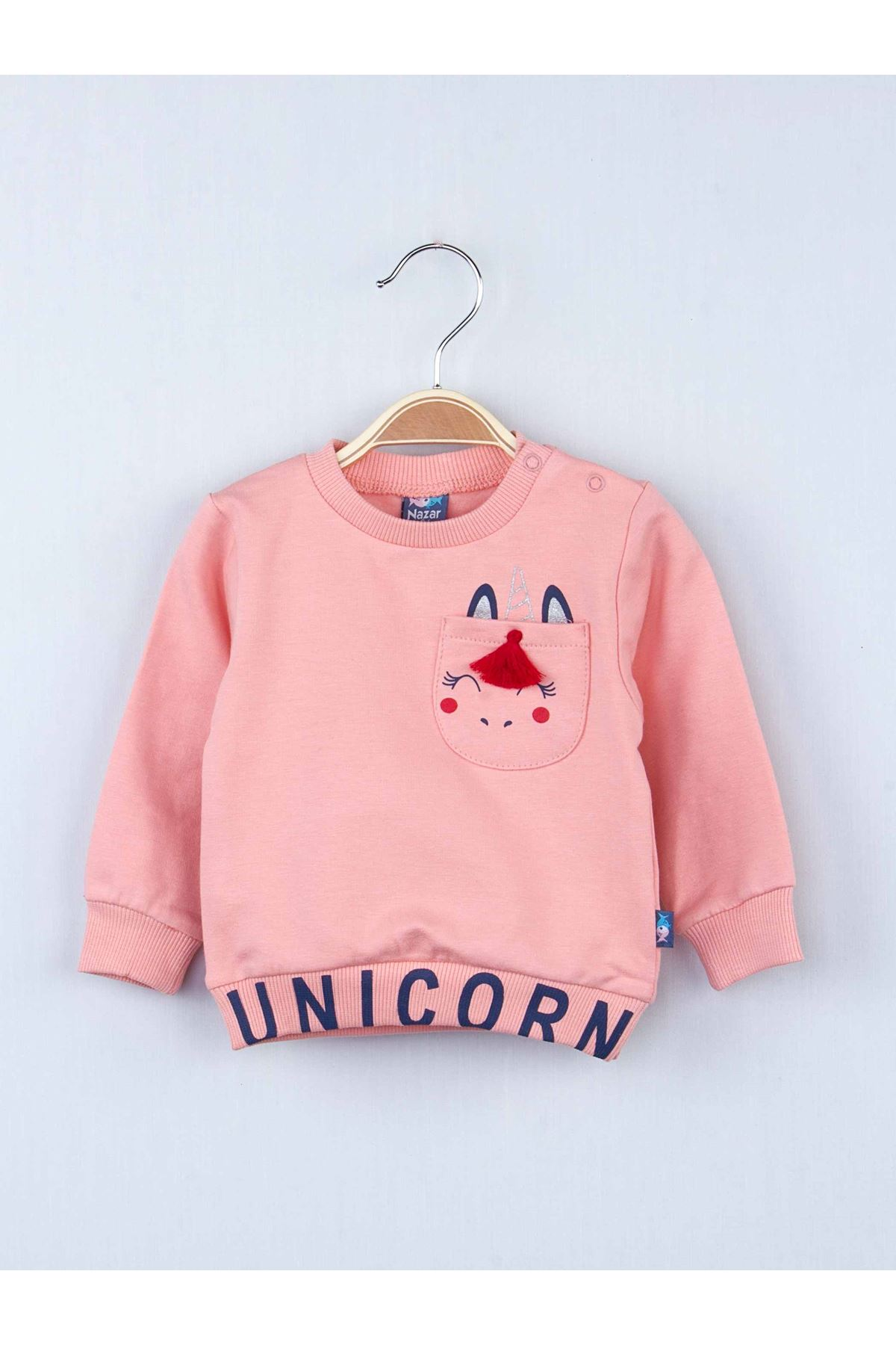 Powder color baby girl bottom top 2 piece sets suits cotton daily seasonal sets cute and stylish babies Model