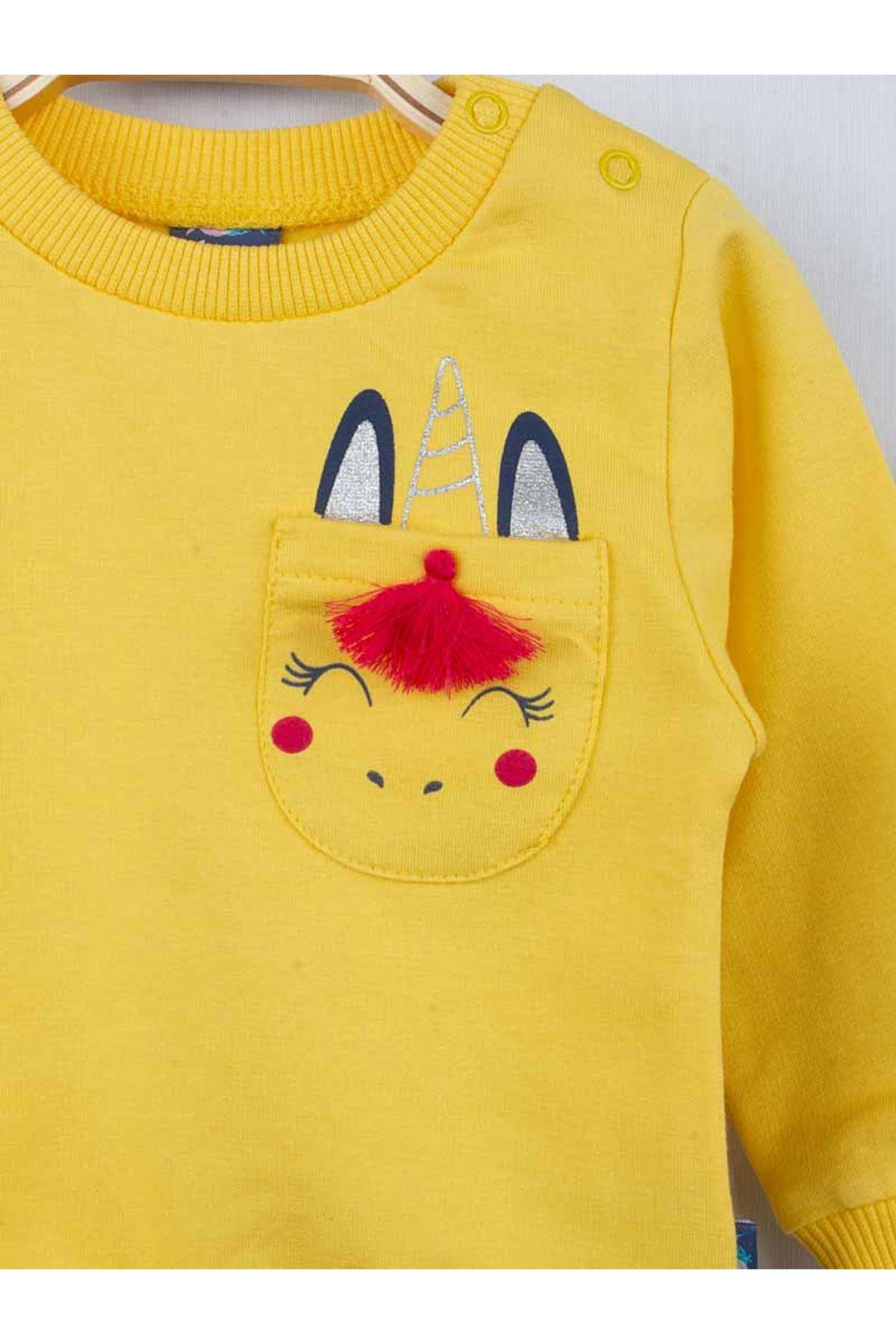 Yellow Winter Baby Girl 2 Piece Suit