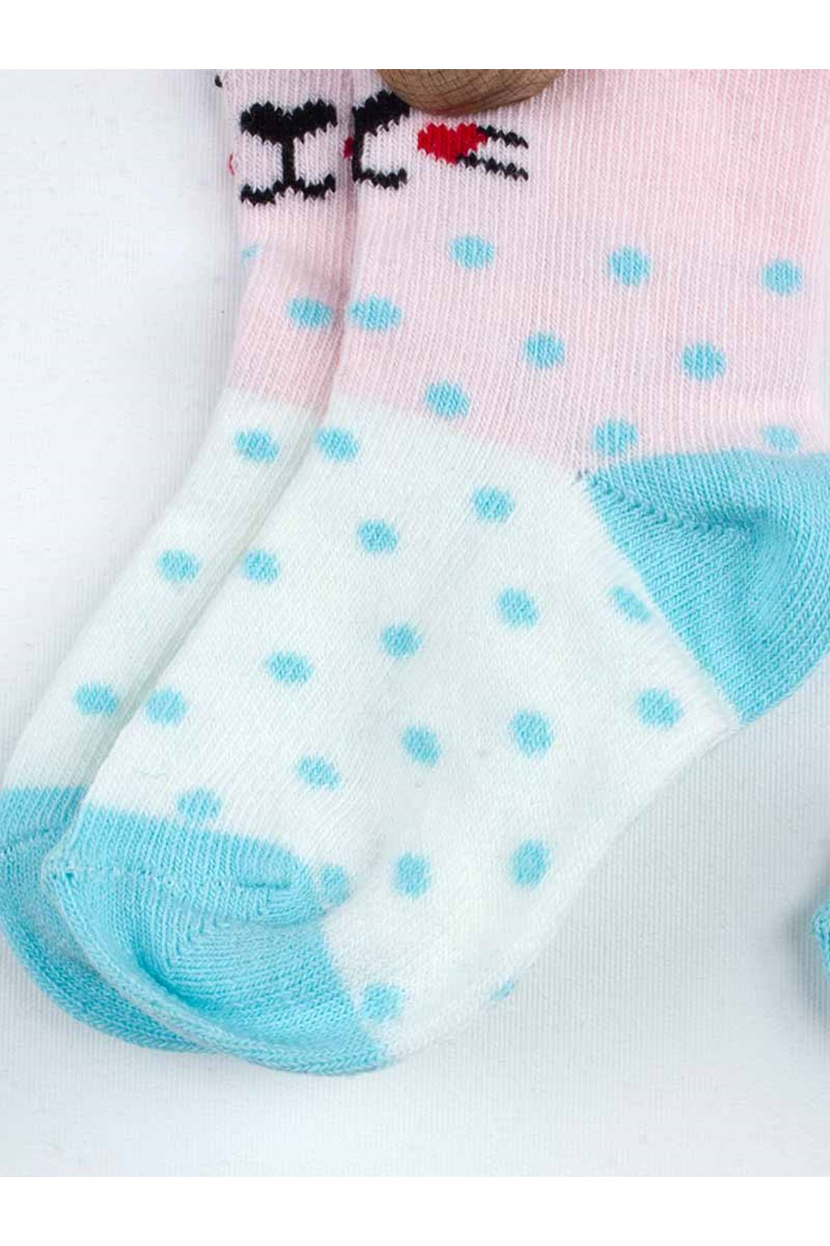 Pink Scented Baby Girl 2 Pieces Socks