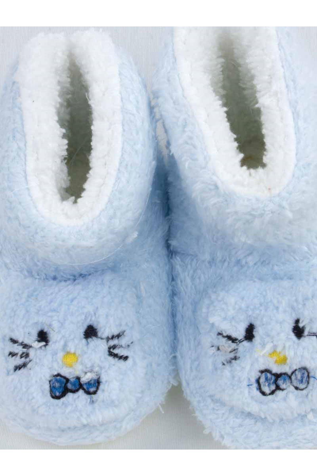 Blue Figured Girls Baby Welsoft Panduf