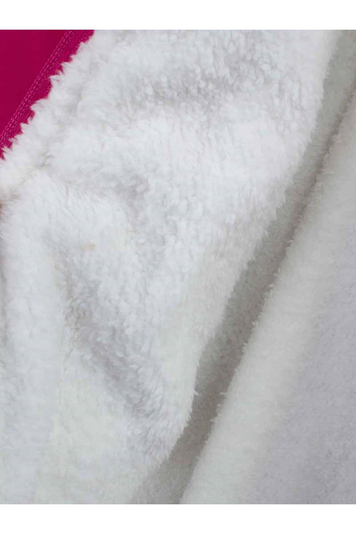 Fuchsia The Panda Female Child Hooded coats