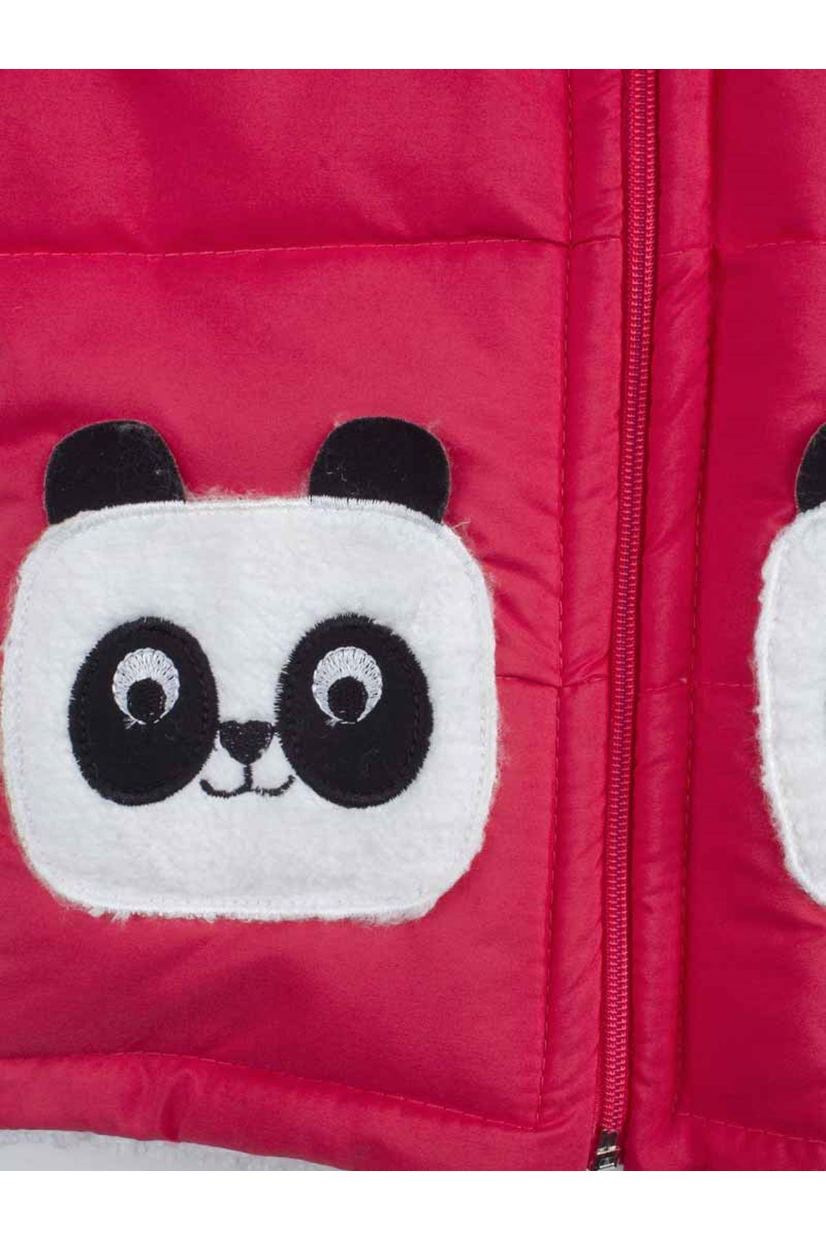 Grenadine red The Panda Female Child Hooded coats
