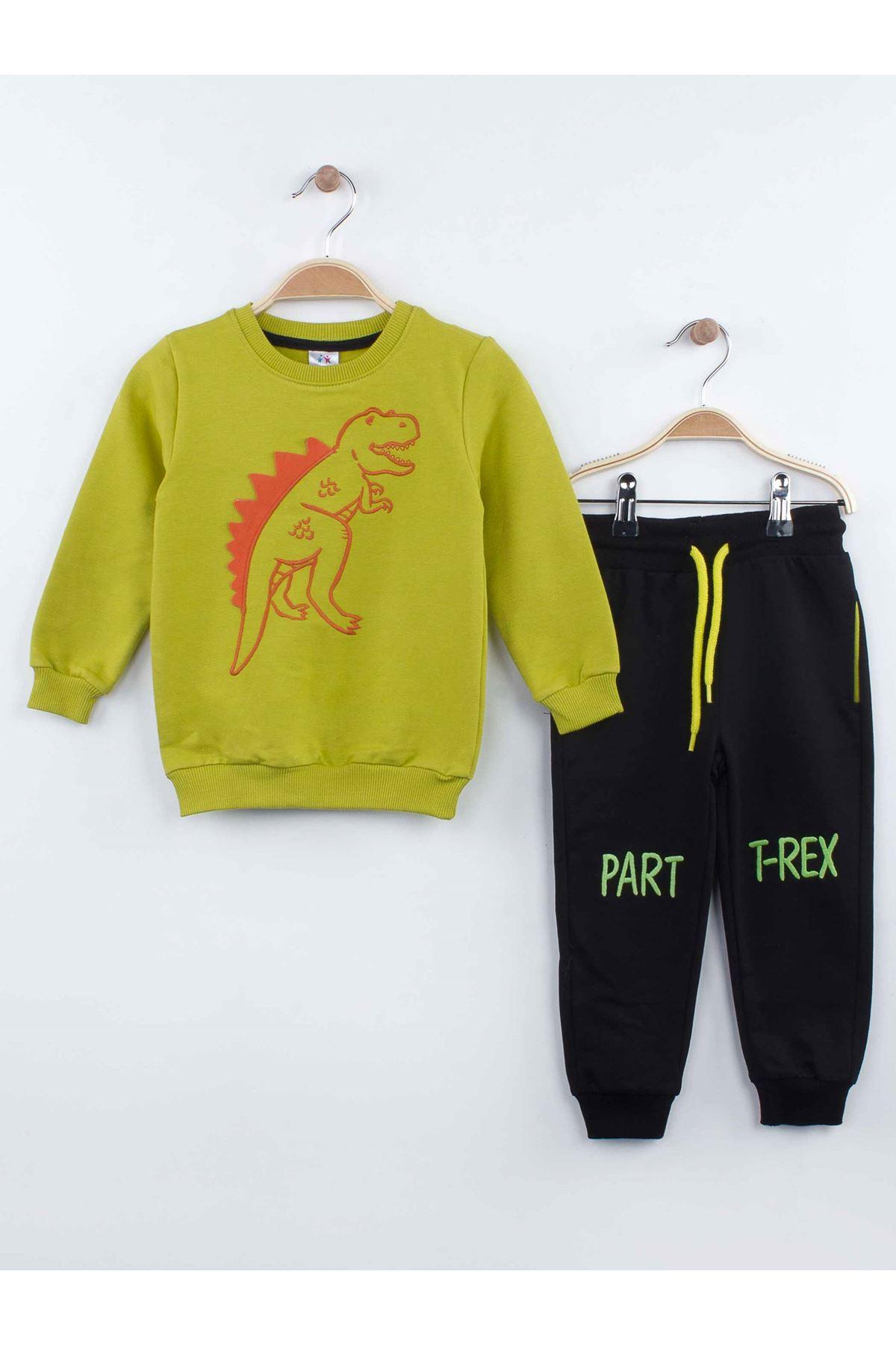 Green Boys Girls Pajamas Set Bottom Pajamas Top Pajamas Kids Daily Wear Homewear Cotton Comfortable Children Pajamas Sets