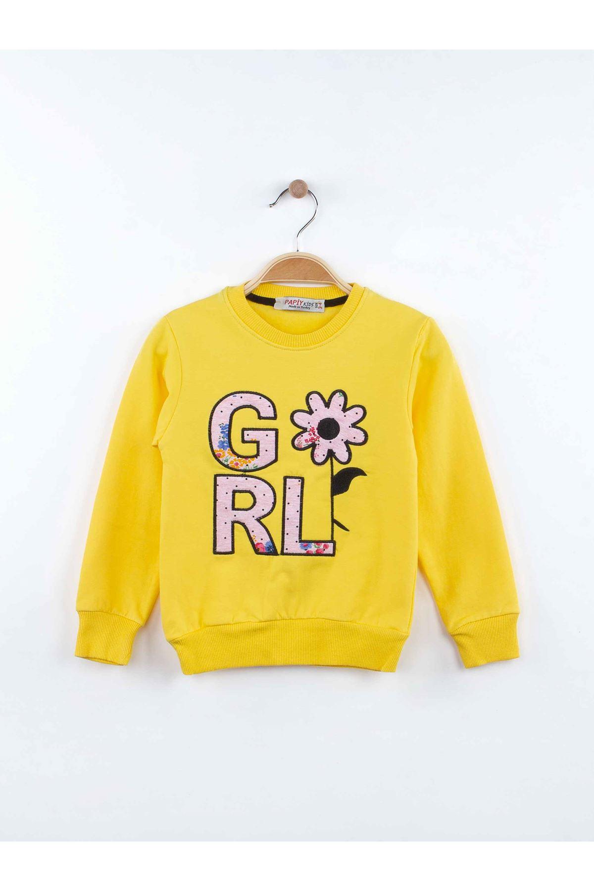 Sarı Kız Çocuk Eşofman Takımı