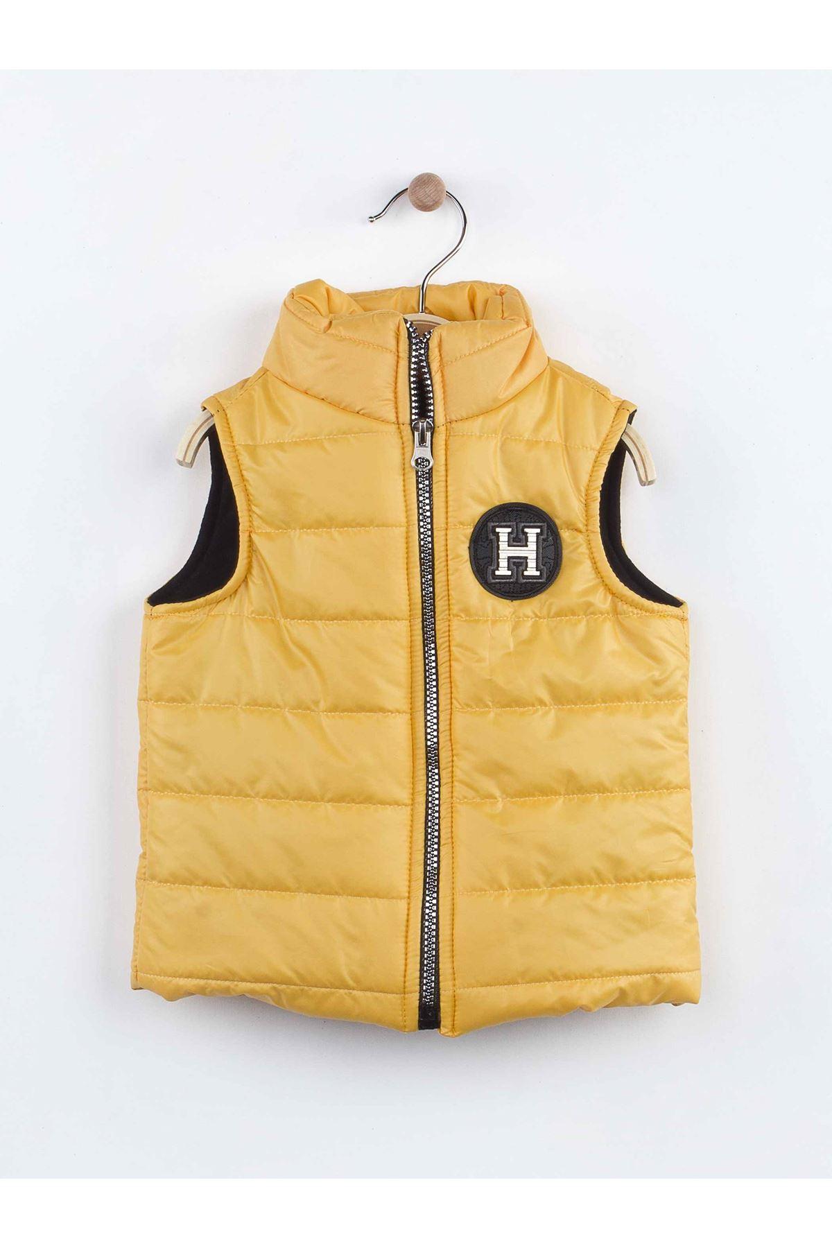 Yellow gray vest 3 piece tracksuit set bottom tracksuit top sweat seasonal suit boys models