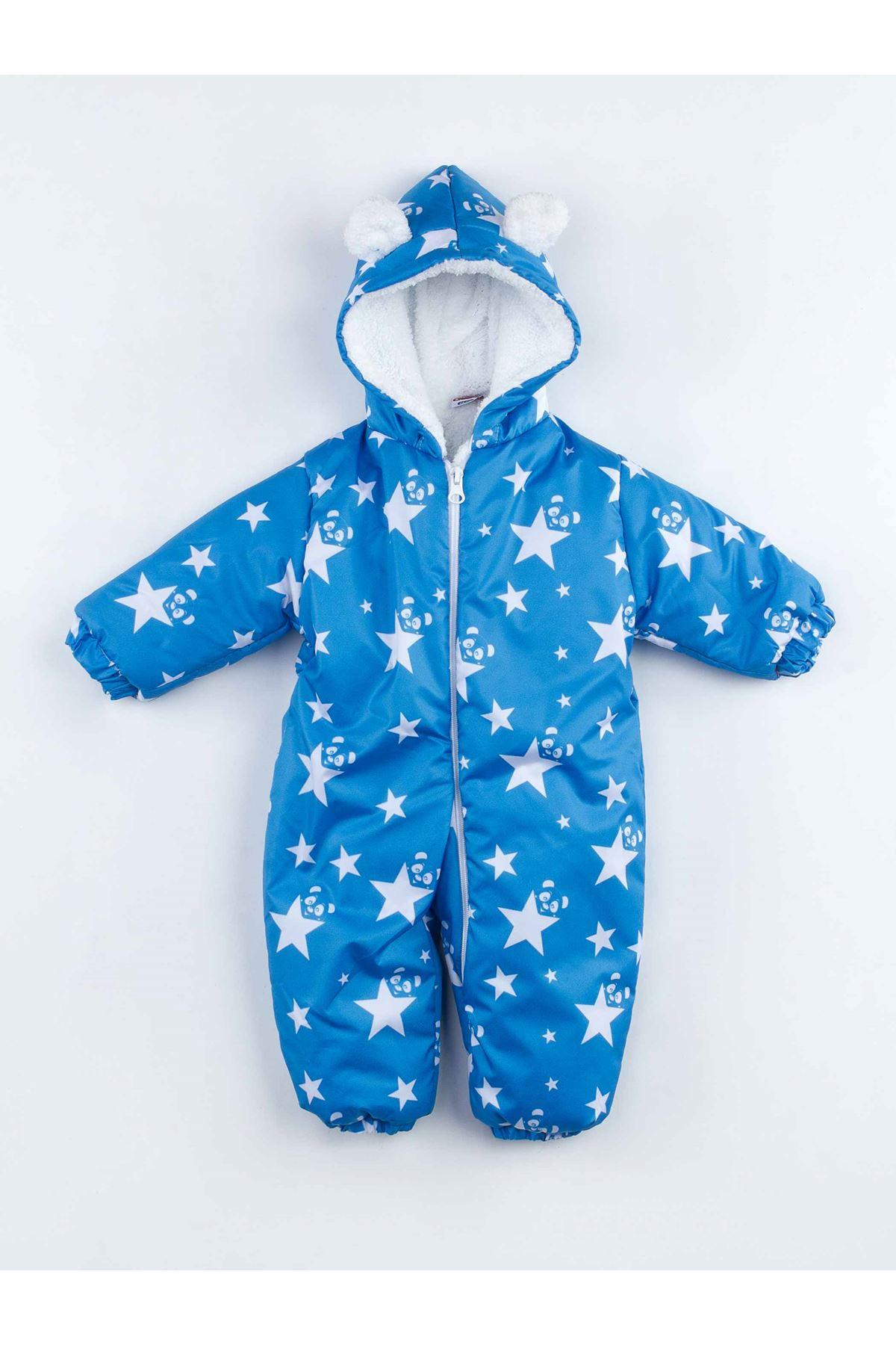 Blue star baby boy cosmonaut rompers warm winter soft comfortable cotton babies models