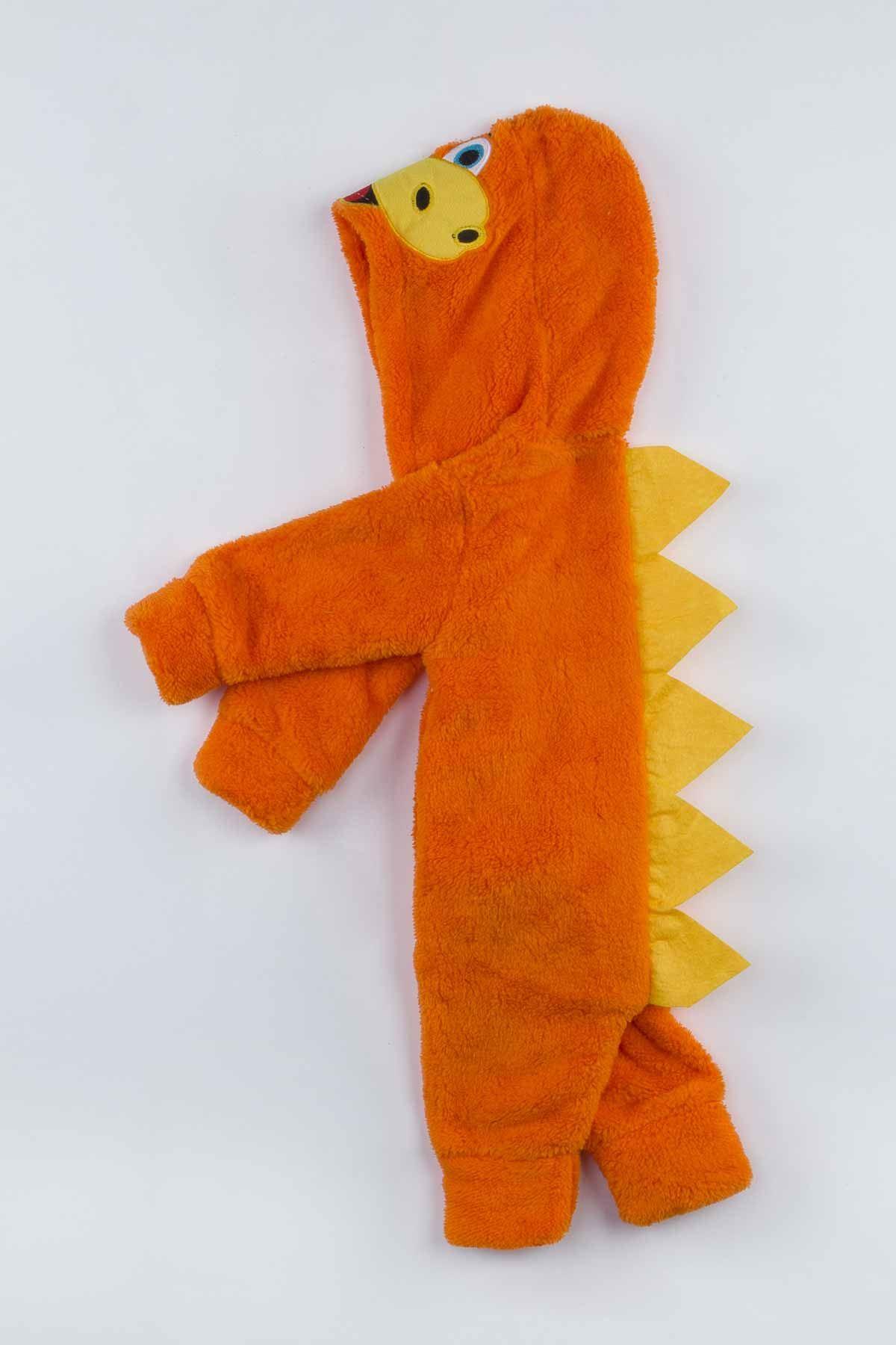 Oranj Peluş Dinazor Figürlü Erkek Bebek Tulum