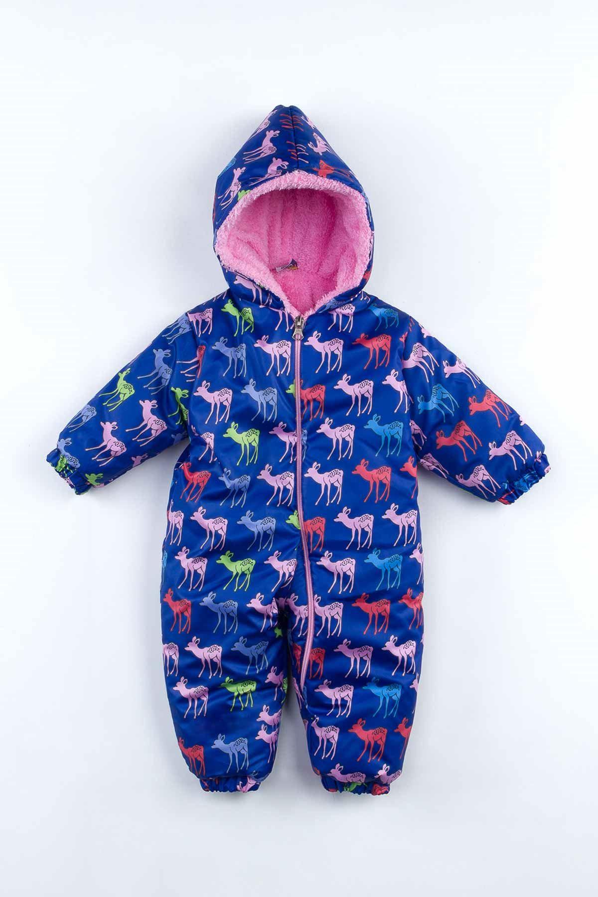 Pink navy blue baby girl rompers deer pattern style babies girls seasonal cotton soft fabric