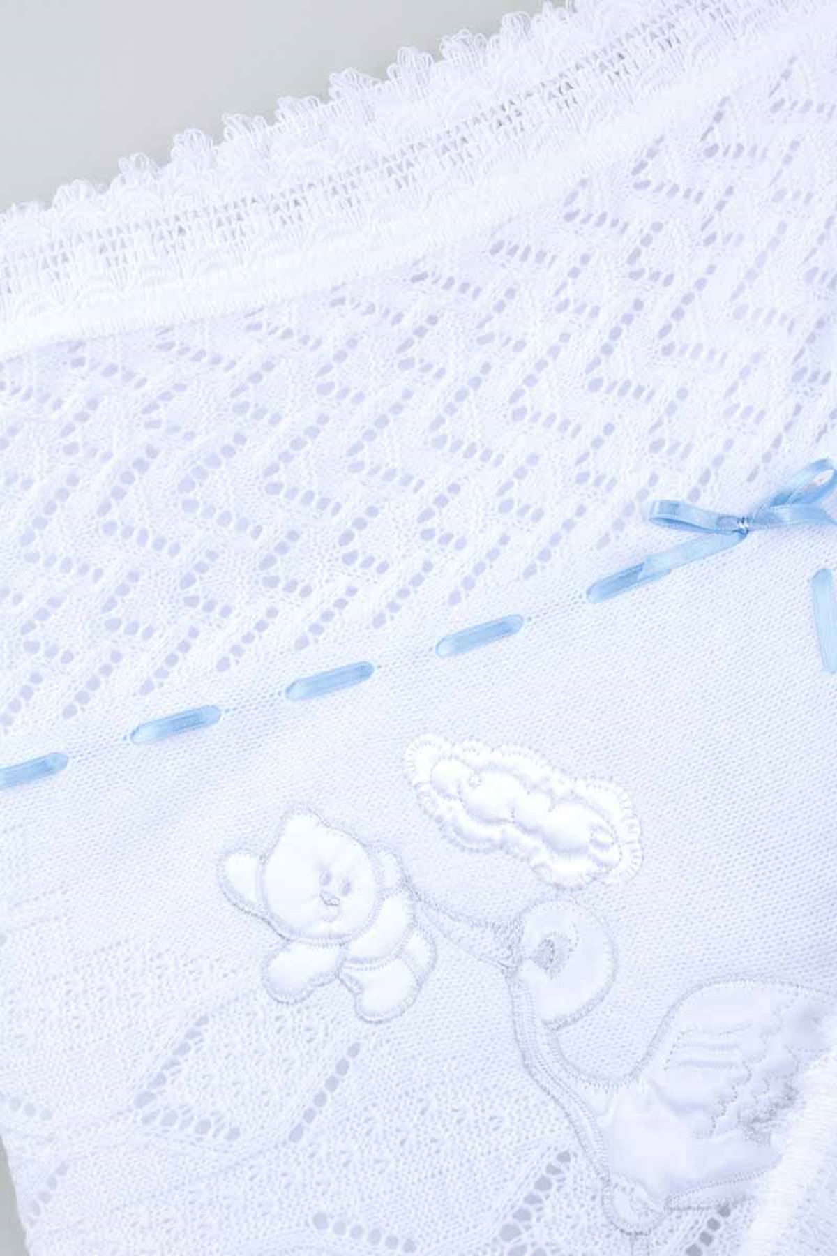White blue hand knitted knitwear baby blankets for girls boys babies cotton seasonal warm 80*80 cm special blankets model