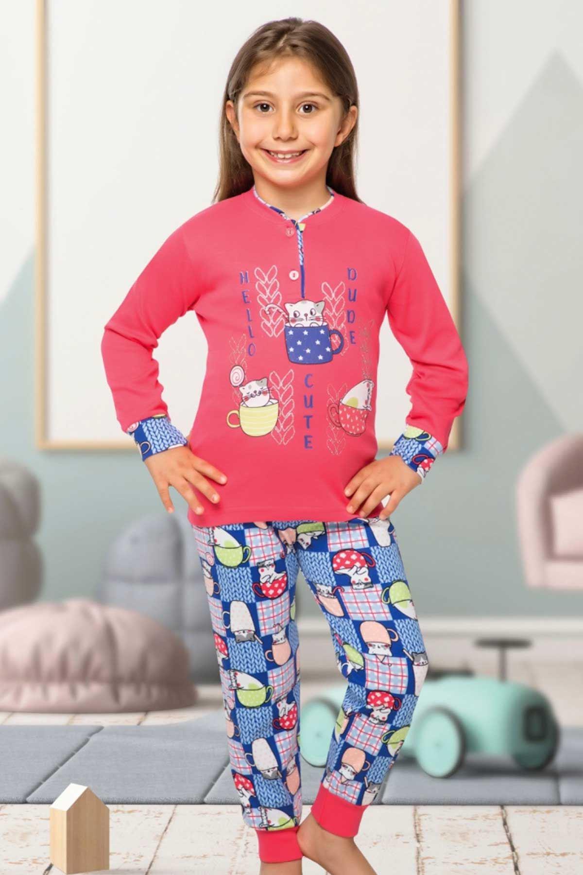 Narçiçeği Kız Çocuk Pijama Takımı