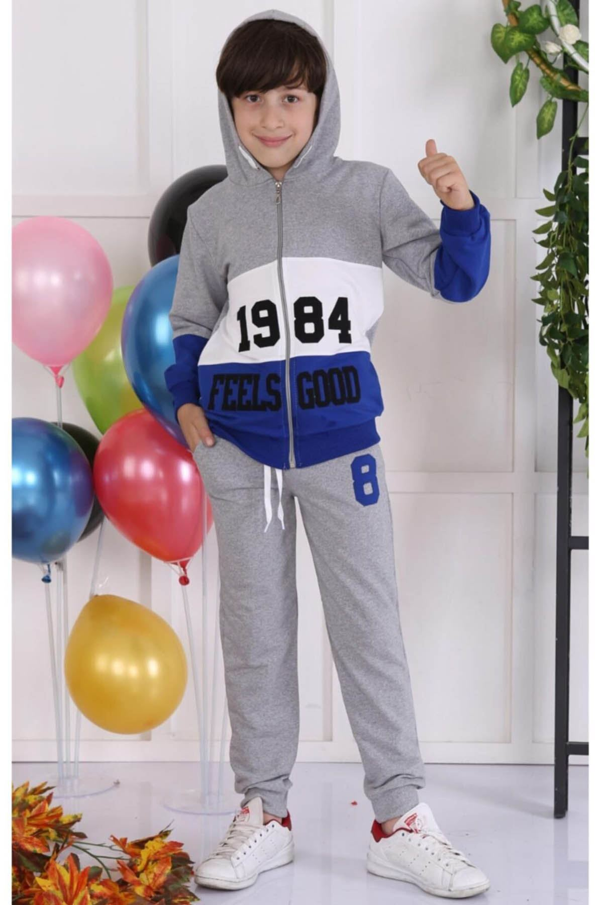 Sax size 2 piece suit tracksuit bottom hooded sweat cotton seasonal casual boys models