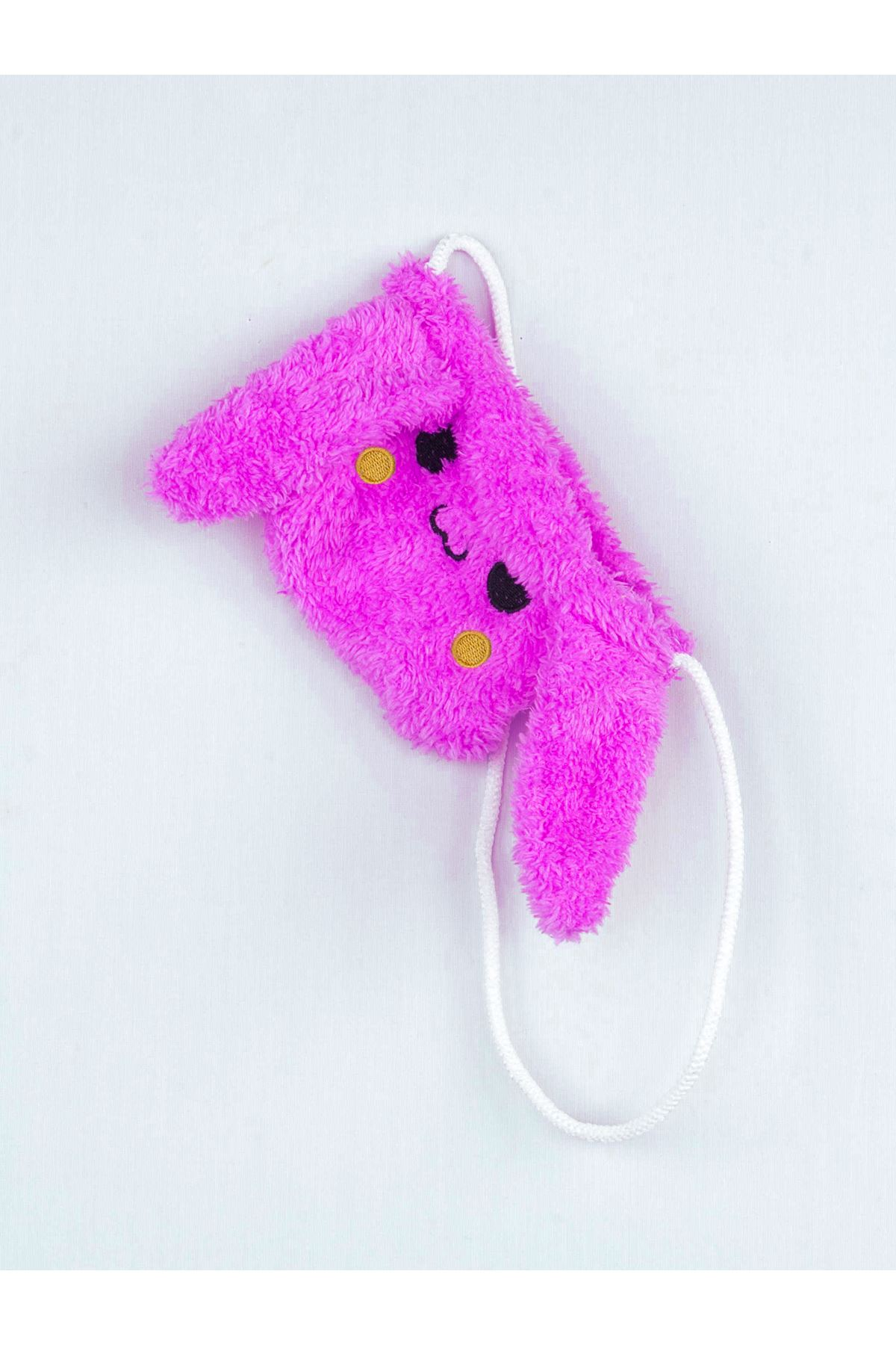 Purple Winter Plush Bag-Eared Girl Tights Suit