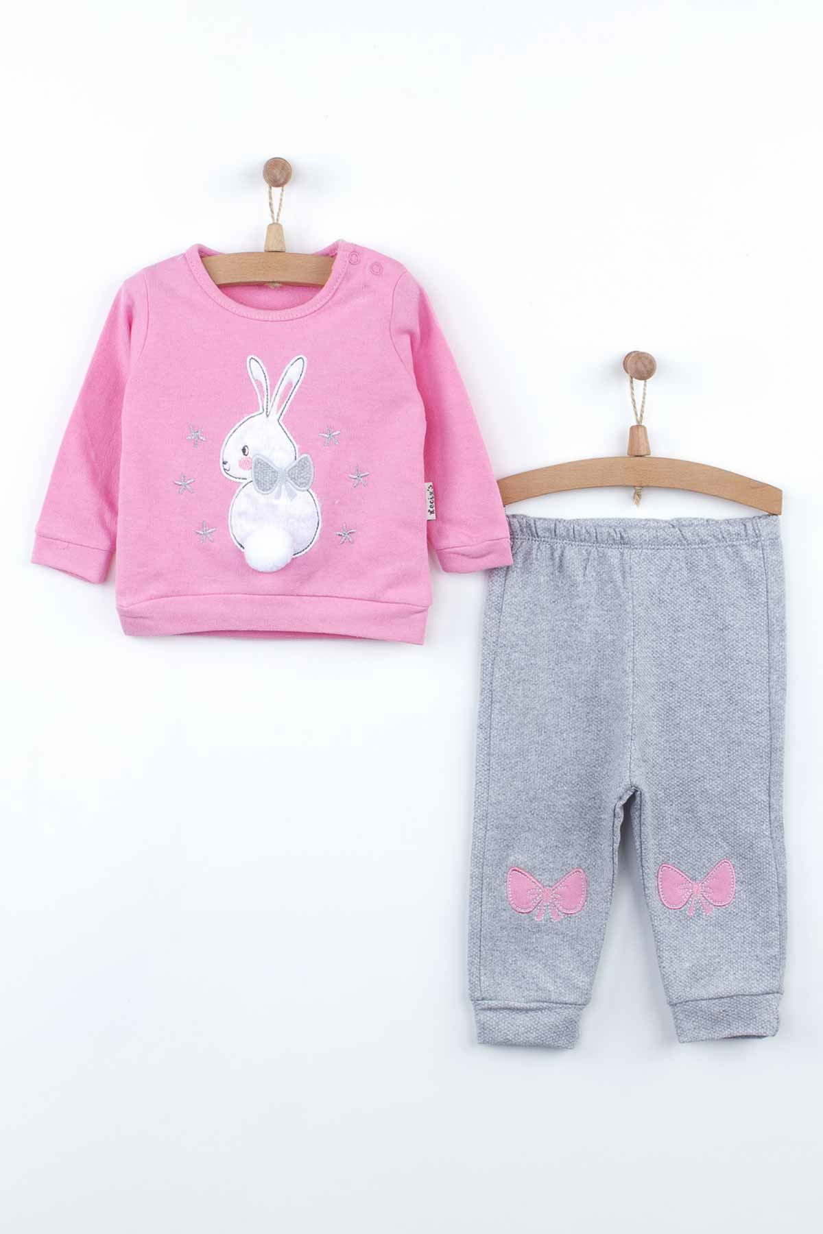 Pink Baby Girl Tracksuit Sweatshirts Suit 2 Piece Set Cute Babies Pajamas Cotton Casual Wear Outfit Girls Babies Model