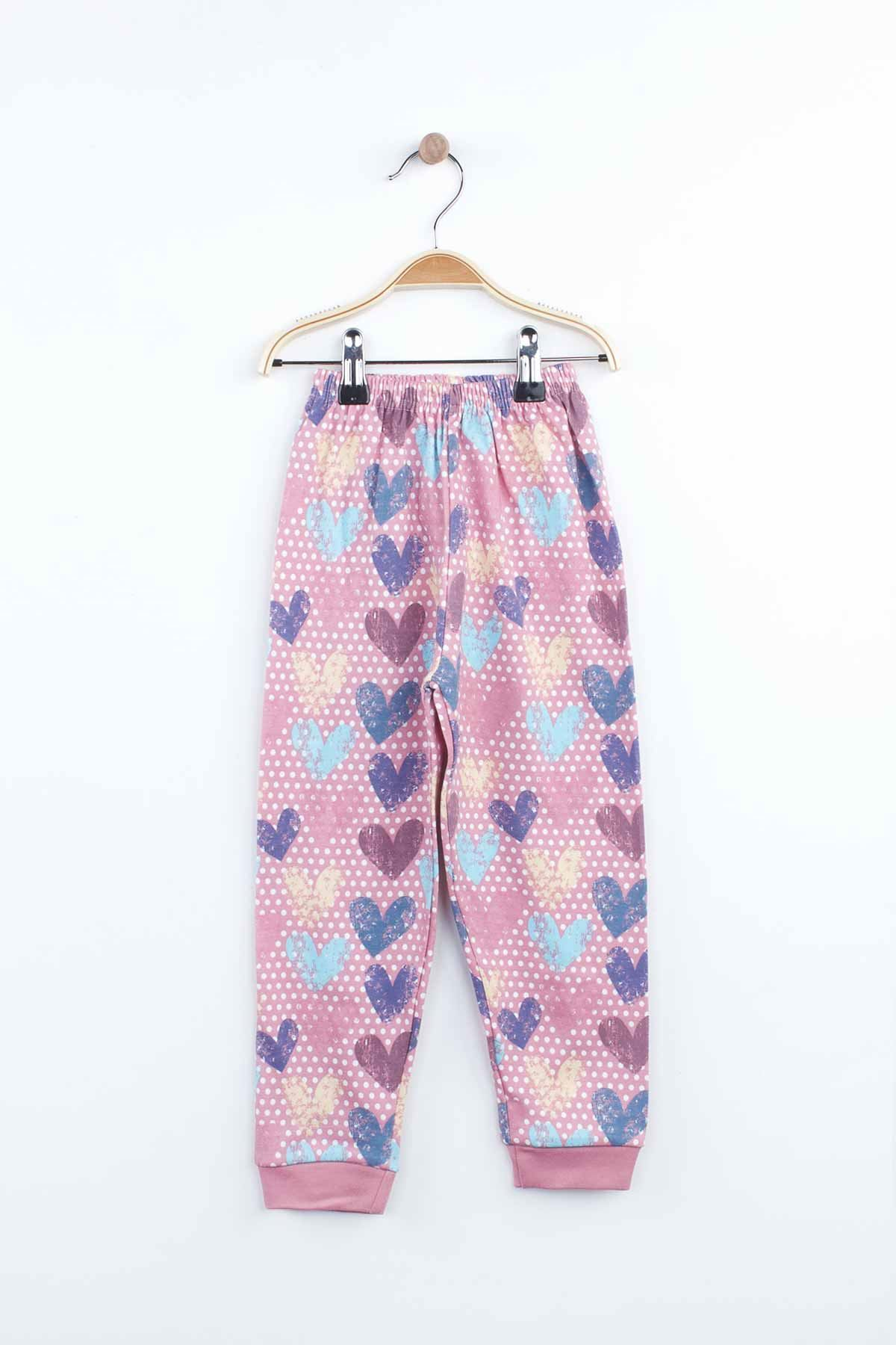 Lilac Girls Pajamas Set Bottom Pajamas Top Pajamas Kids Daily Wear Homewear Cotton Comfortable Children Pajamas Sets Models