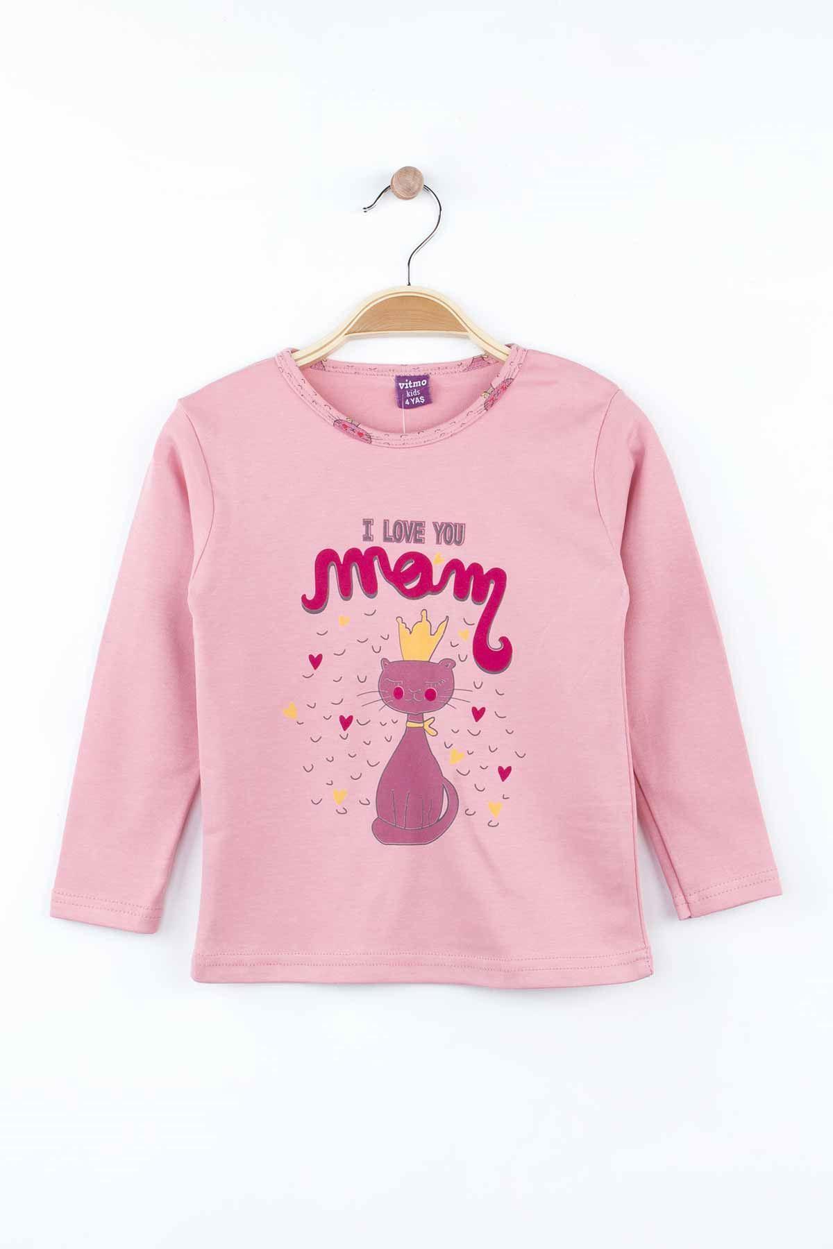 Mürdüm Kız Çocuk Pijama Takımı