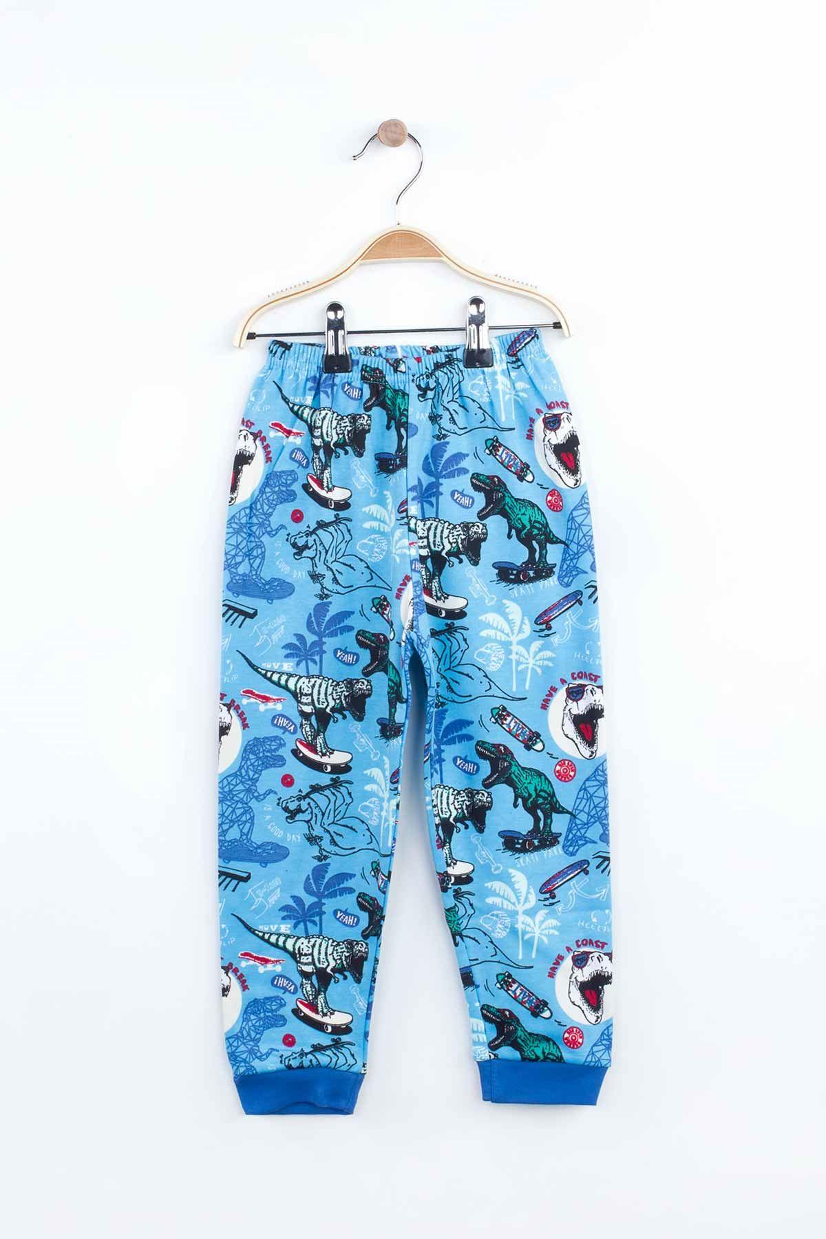 Blue Boys Girls Pajamas Set Bottom Pajamas Top Pajamas Kids Daily Wear Homewear Cotton Comfortable Children Pajamas Sets