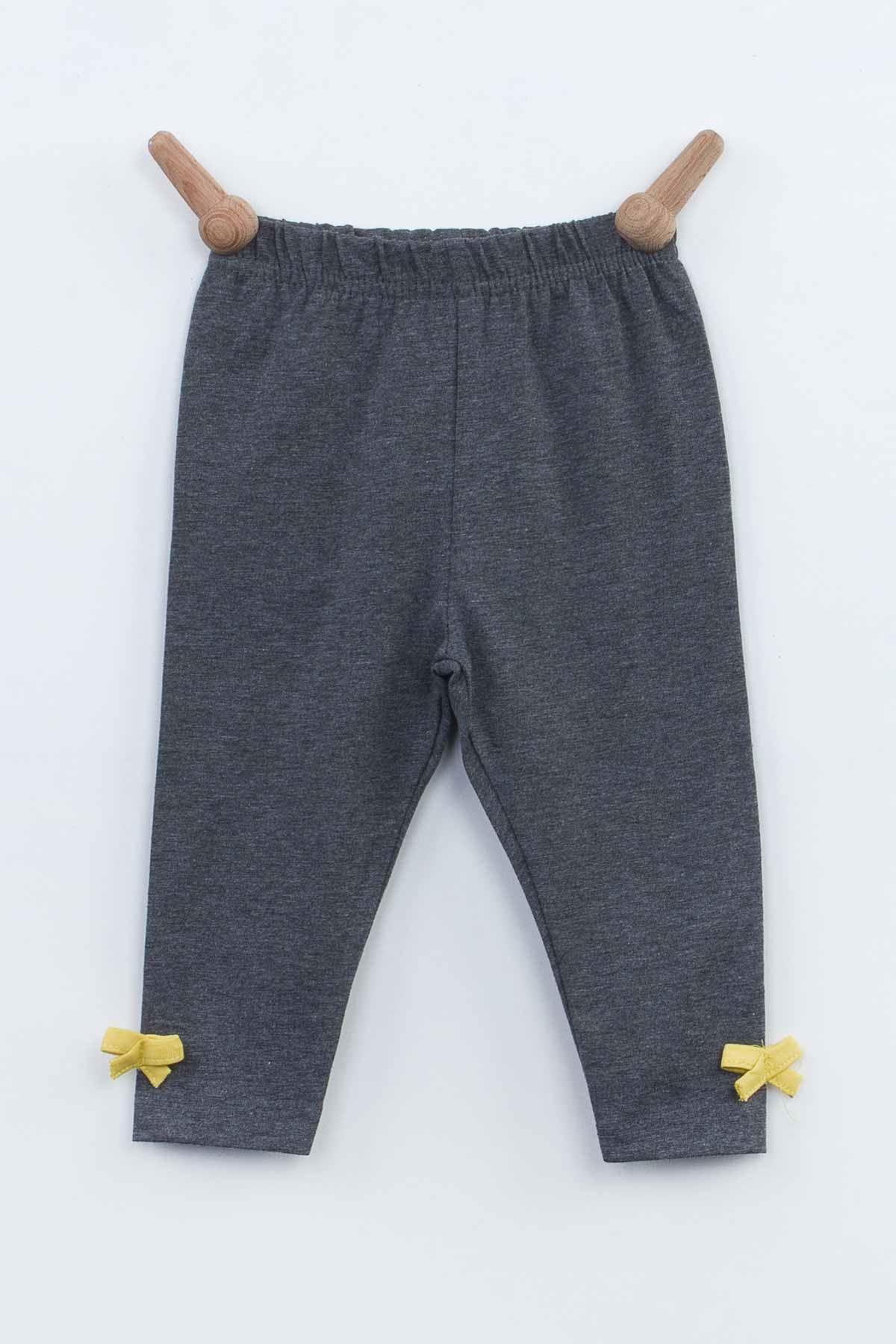 Yellow Grey Baby Girl 3-piece Suit Set Top Badi Bottom Clothing Top Outfit Babies Cotton Body Seasonal Spring baby Models
