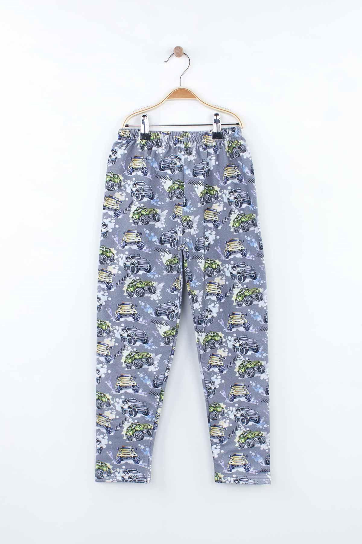 Siyah Erkek Çocuk Pijama Takımı