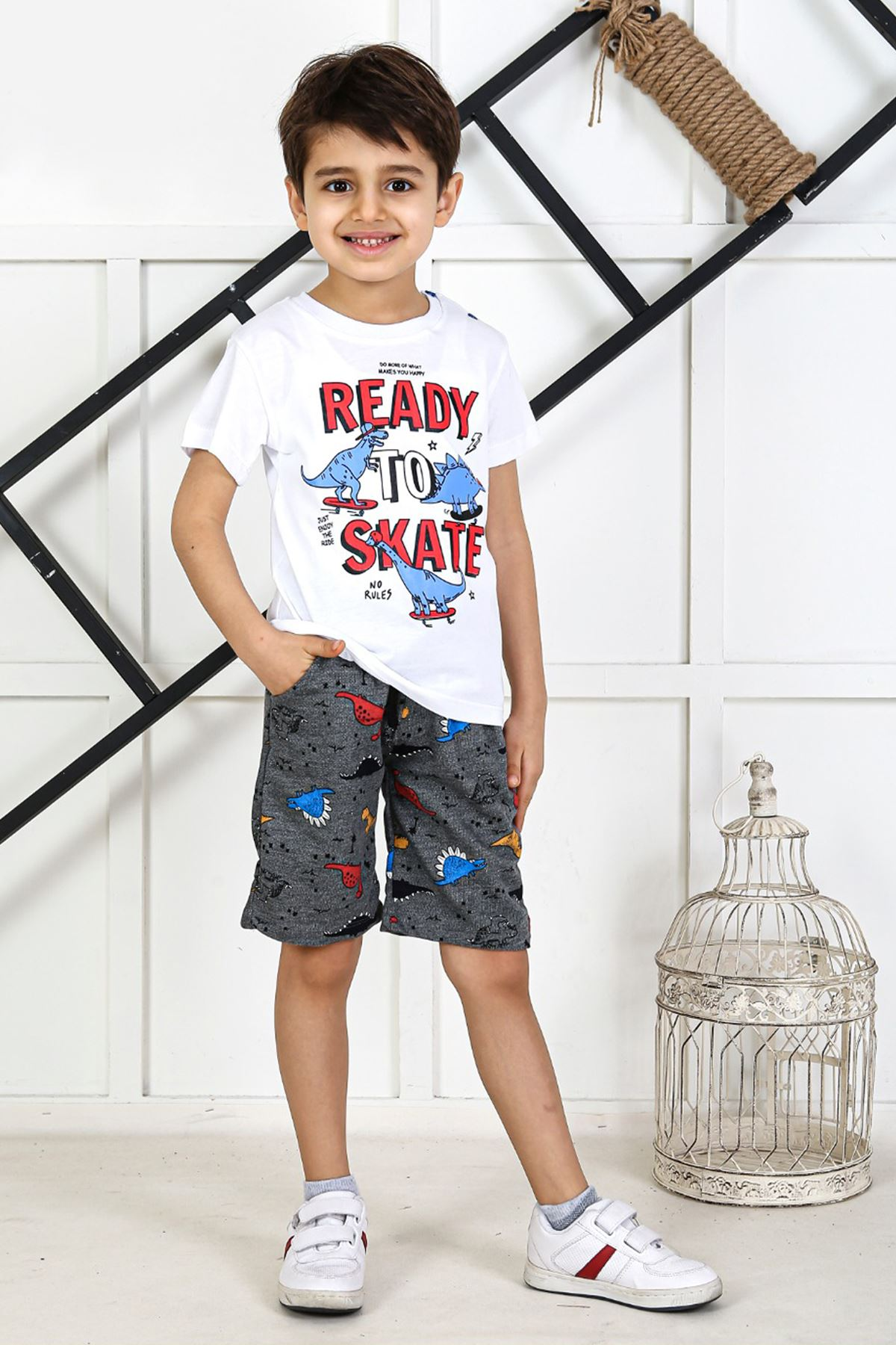White Baby Boy Teenage Male Clothes Suit Summer Male Children T-Shirt Shorts 2 Piece Clothing Set Beach Boys outfits Sport Model