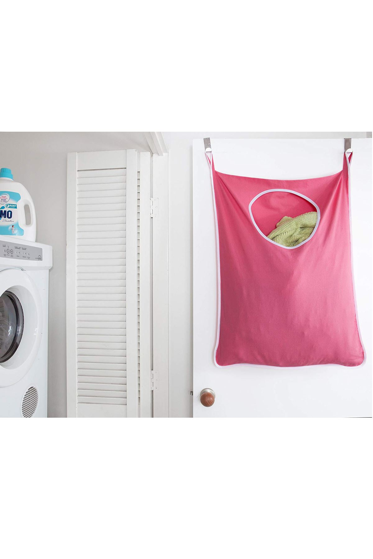 Pink Laundry Toy Hanger Kids Room Bathroom Dirty Clothes Hooked Behind Door Wall Model Practical Household Items Storage