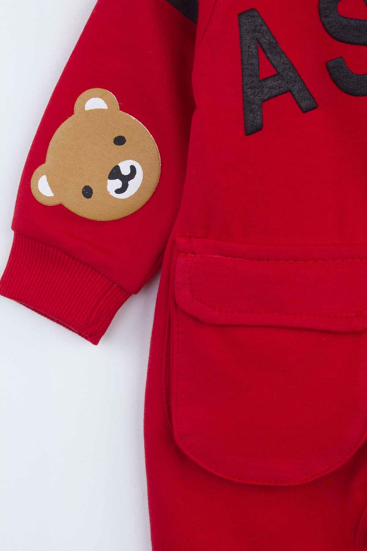 Red Hooded Baby Boy Rompers Fashion 2021 New Season Style Babies Clothes Outfit Cotton Comfortable Underwear for Boys Baby