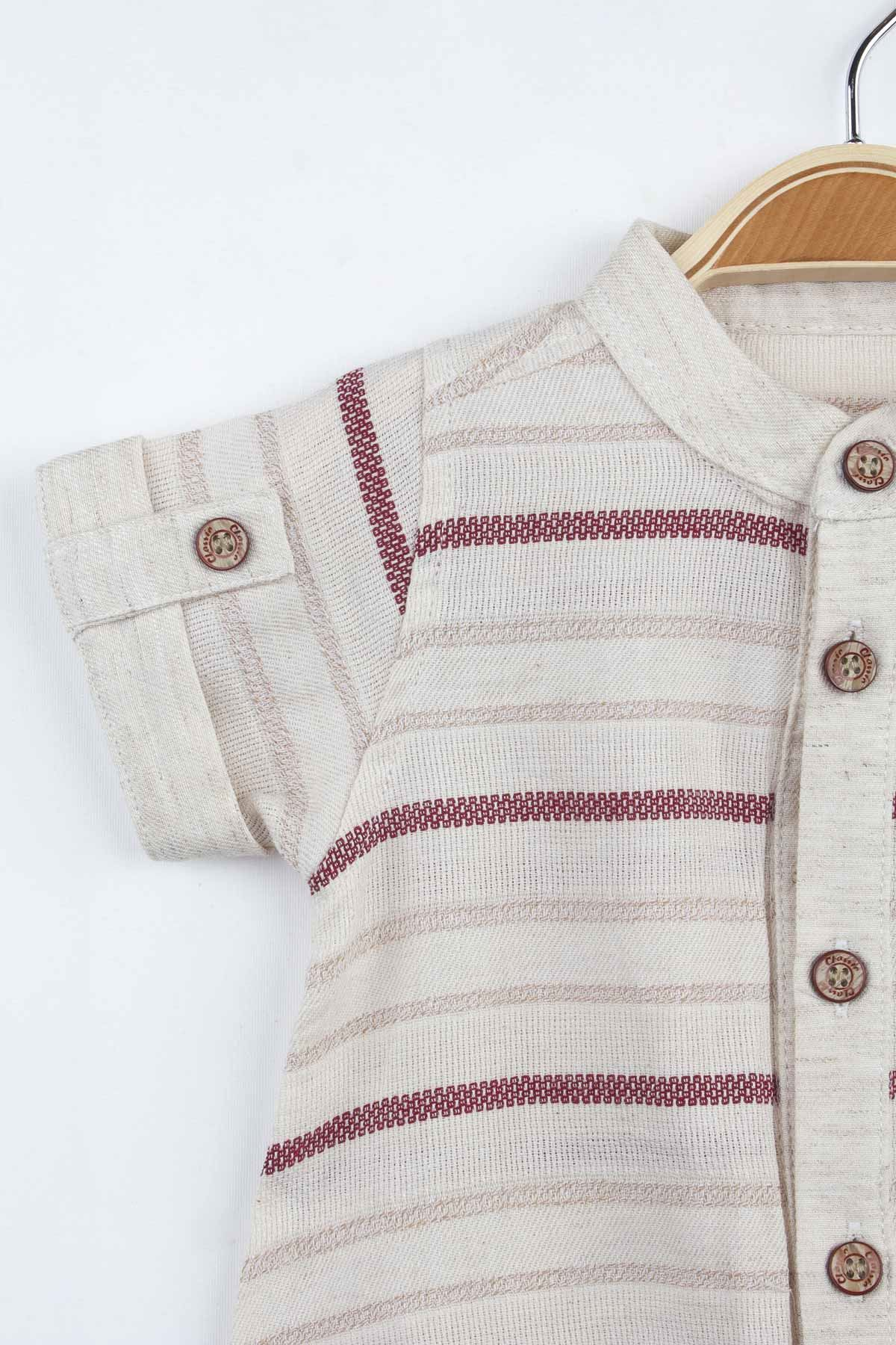 Burgundy Summer Baby Boy Shirt Model Body Underwear Clothing babies Male Boys Cotton Comfortable Models