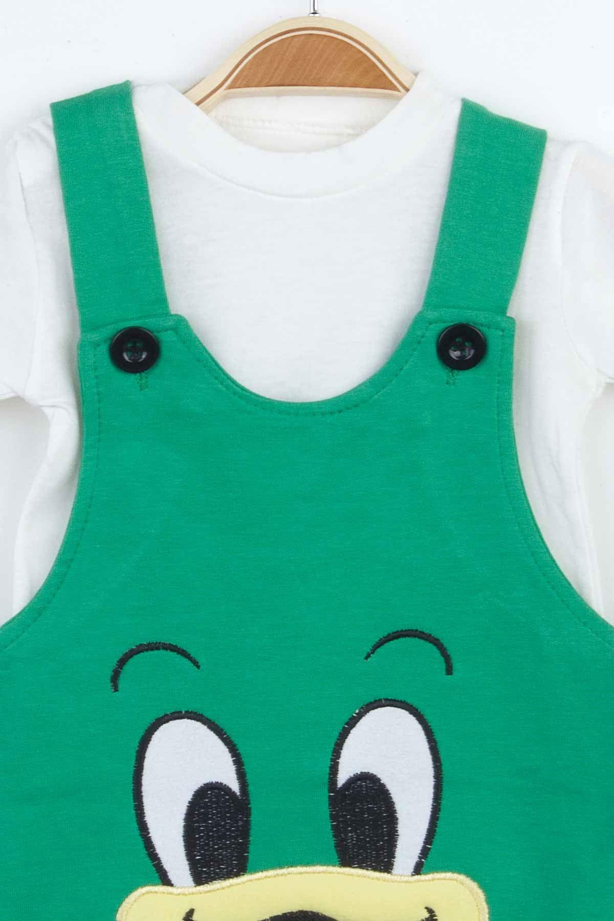 Yeşil Erkek Bebek Salopet Tulum