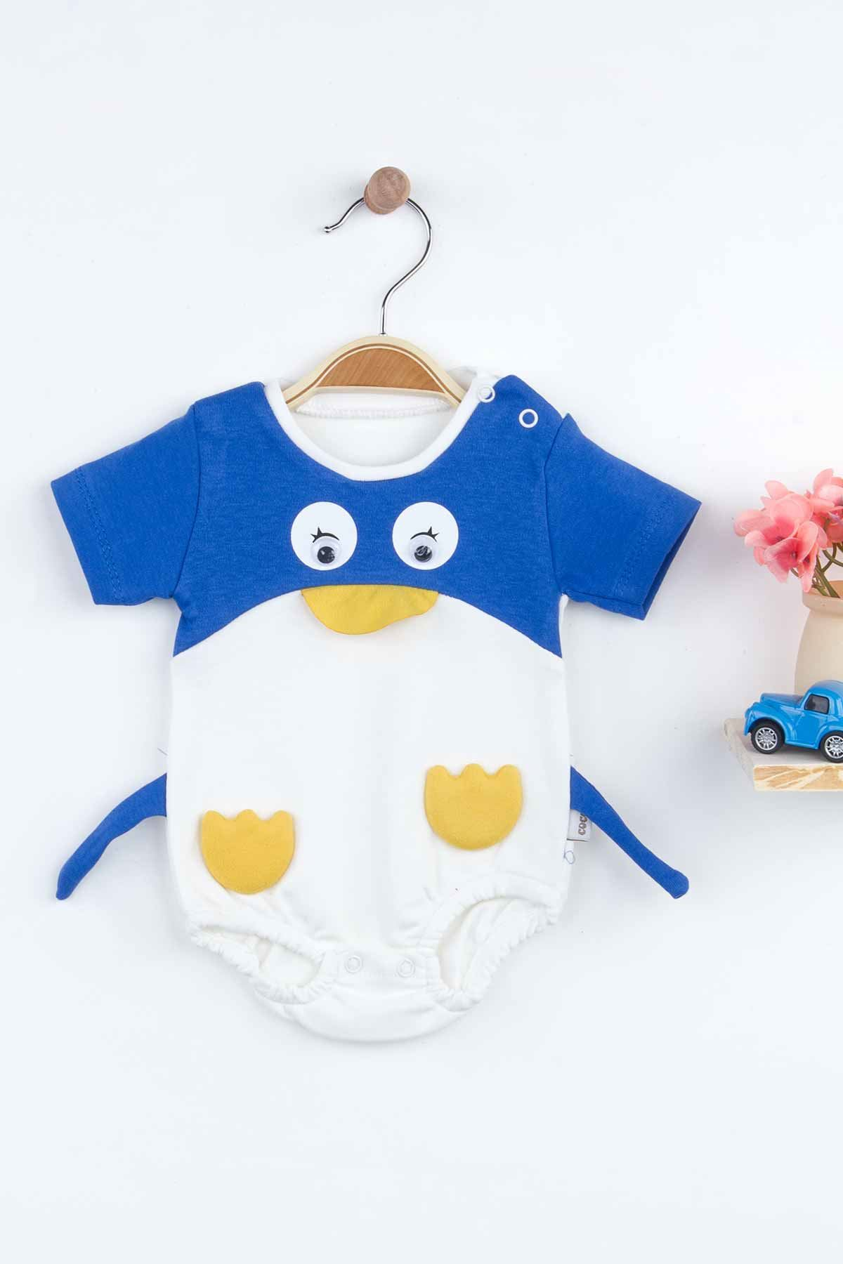 Blue Baby Boy Rompers Summer Fashion 2021 New Season Style Penguin Babies Clothes Outfit Cotton Comfortable Underwear for Boys Baby