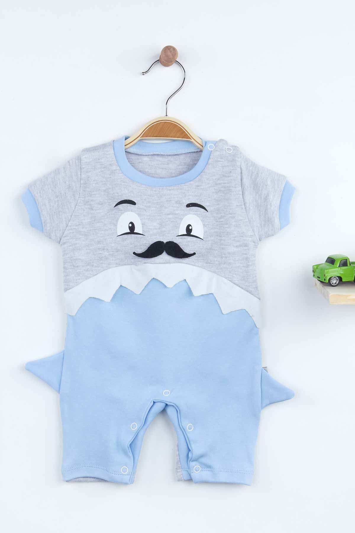 Blue Summer Shark Baby Boy Rompers Fashion 2021 New Season Style Babies Clothes Outfit Cotton Comfortable Underwear for Boys Baby