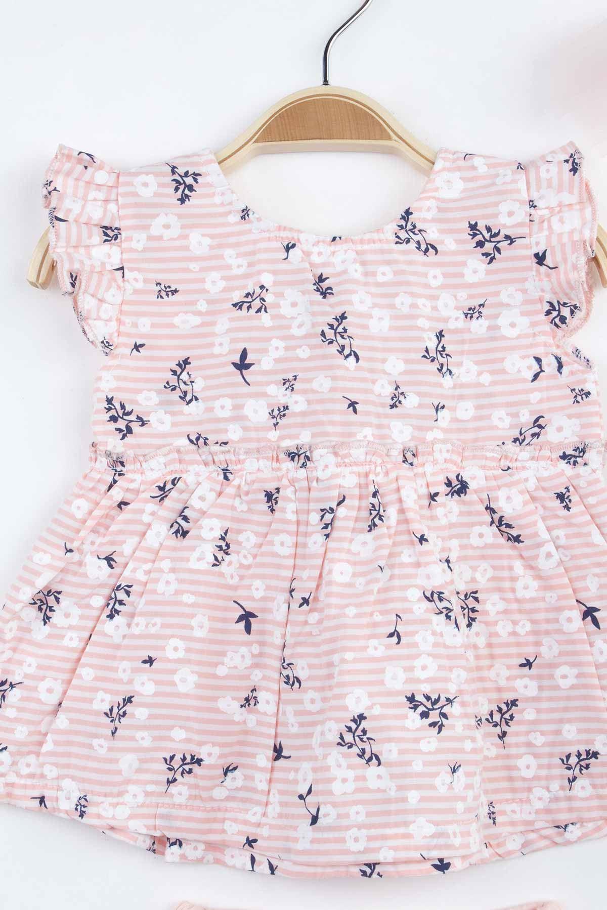 Powder Pink Baby Girl Suit Shorts Body Hair Bandana Clothing Summer Holiday Girls Babies Comfortable Daily Cotton Underwear Set