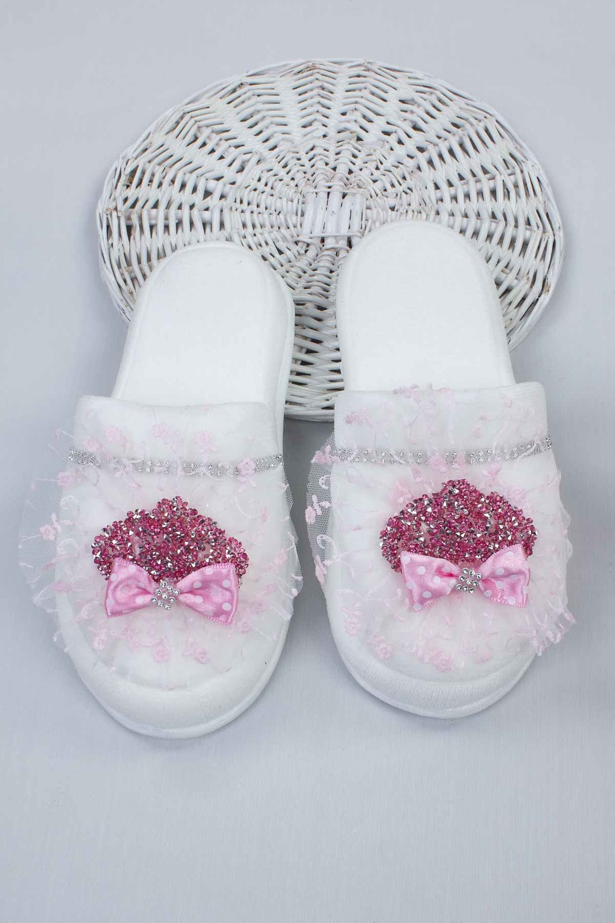 Fuchsia Puerperal Crown Slippers and Baby Booties Bandana Set