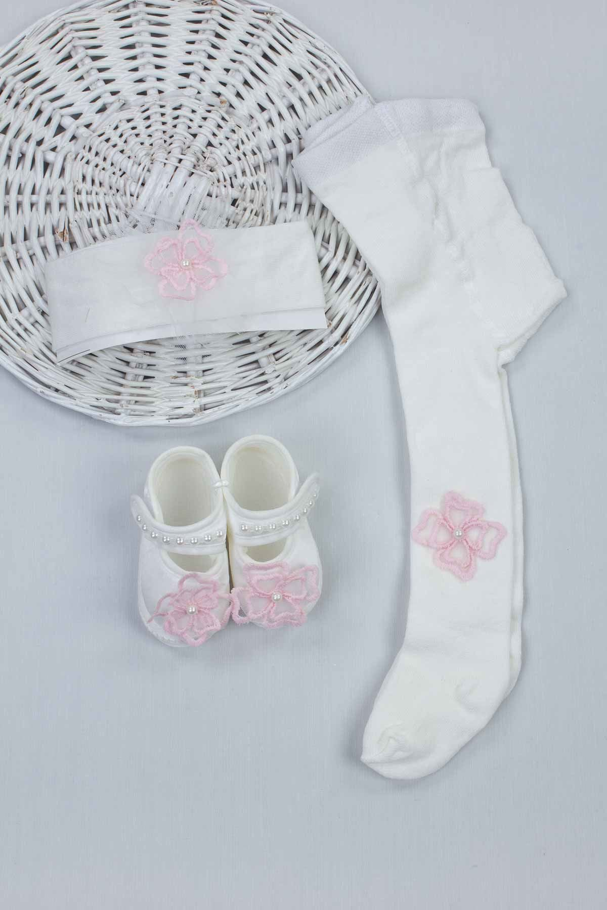 Pink White Baby Girl Newborn Gift Suit Set Girls Babies Tights Stockings Hair Bandana Shoes Fashion Style 2021 Mom Gift package