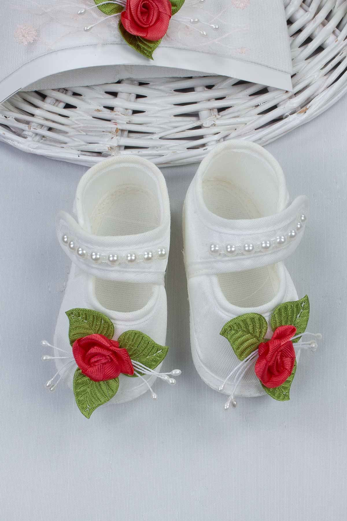 White Flower Baby Girl Newborn Gift Suit Set Girls Babies Tights Stockings Hair Bandana Shoes Fashion Style 2021 Mom Gift packag