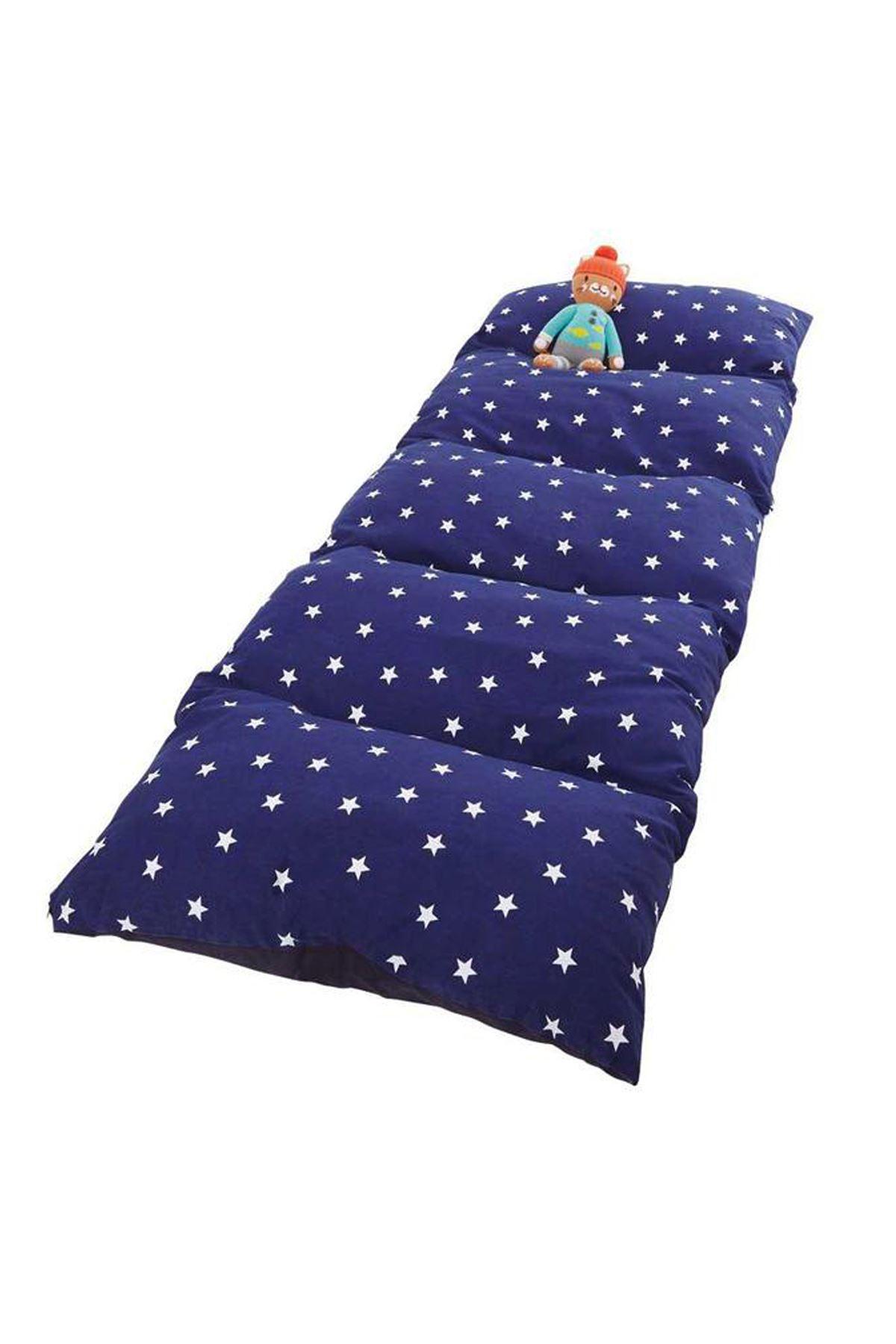 Navy Blue Bundera Pouf Foldable Floor Cushion Pillow Kids Baby Floor Bed