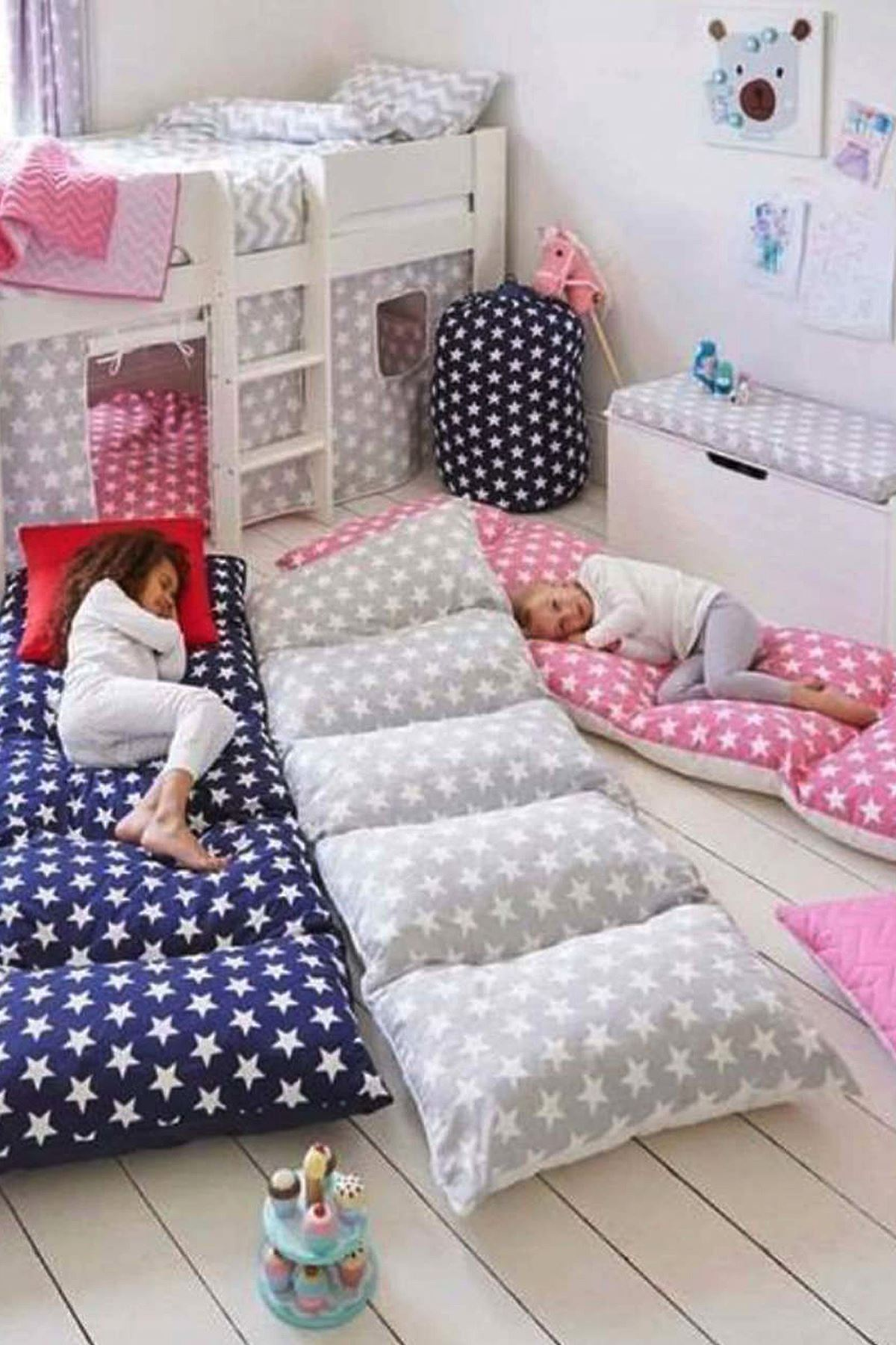Yellow Bundera Pouf Foldable Floor Cushion Pillow Kids Baby Floor Bed