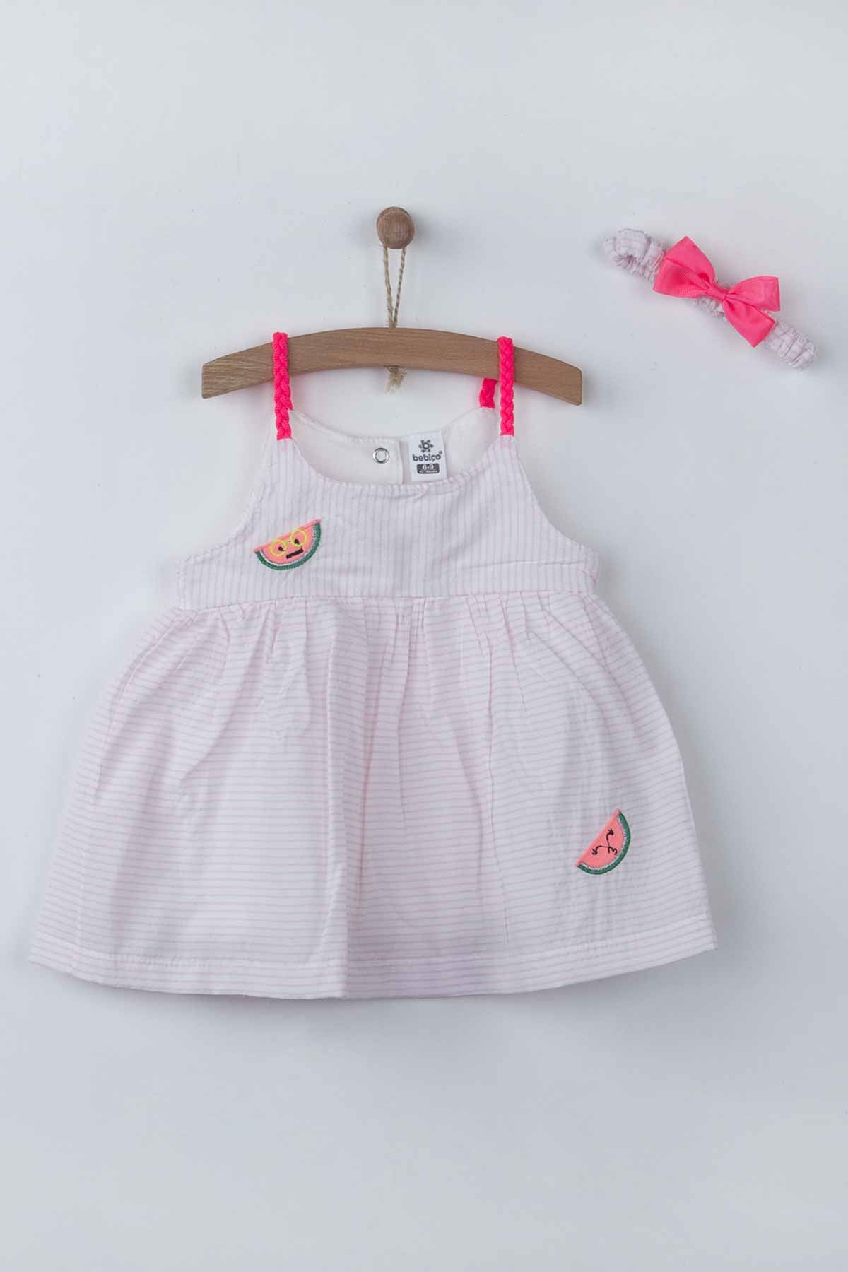 Pink Baby Girl Dress Summer 2-piece Suit Clothes Set Dress Hairband Cute Cute Babies outfit Holiday Beach Wear clothing Models
