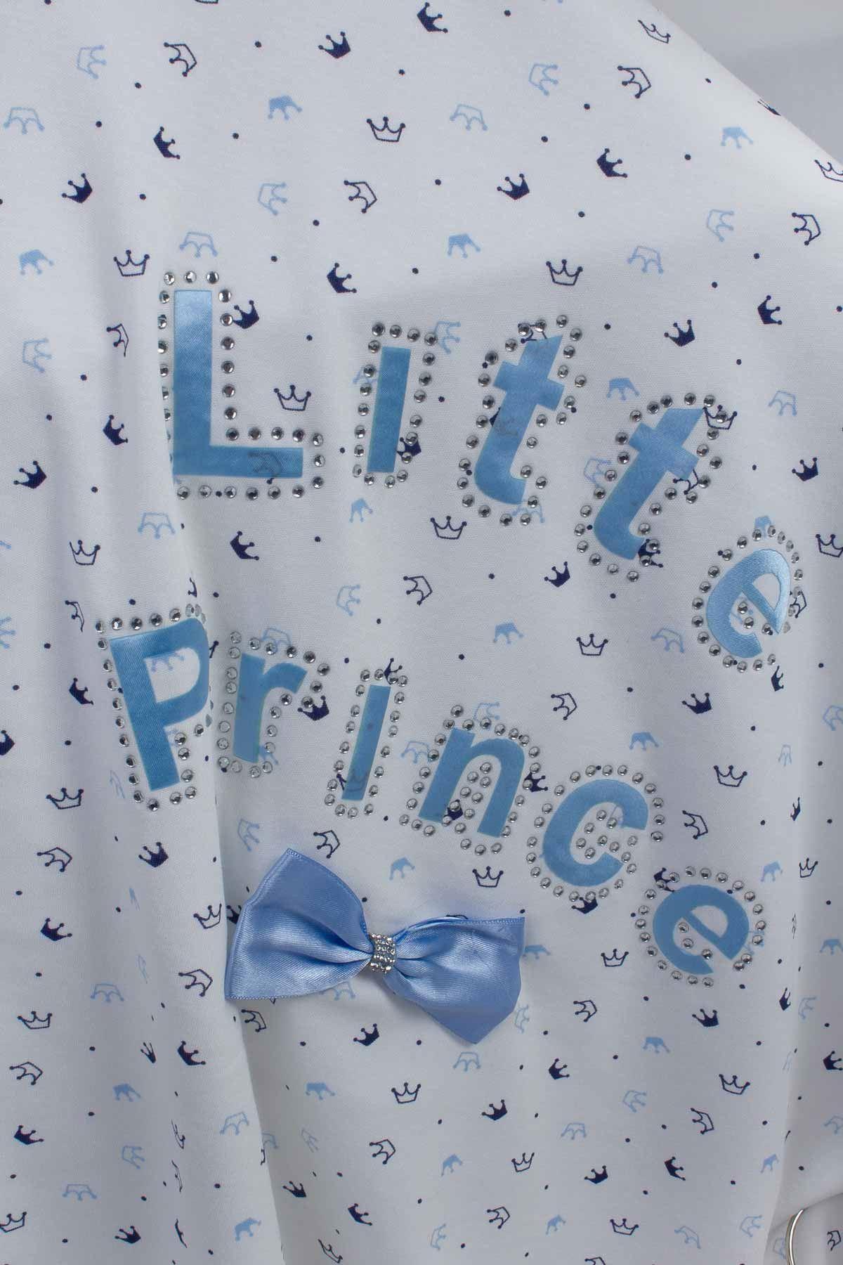 Mavi 80x85 cm Prens Erkek Bebek Battaniye