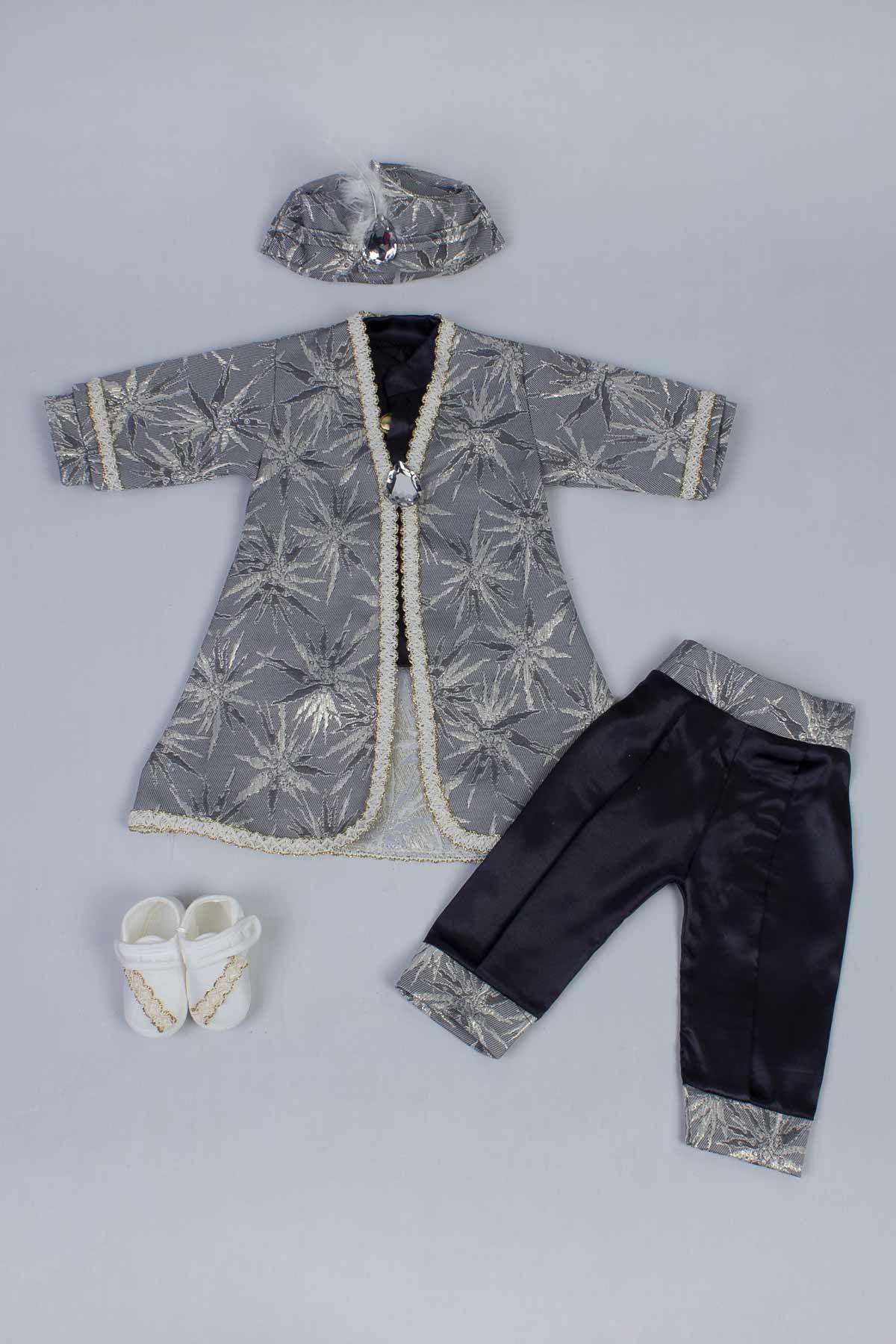 Gri Erkek Bebek 5 li Şehzade Takım