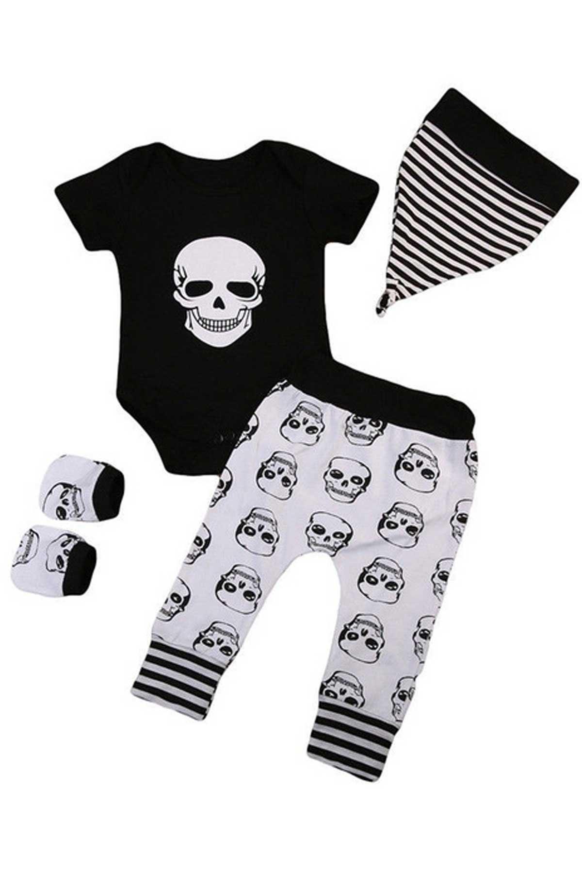 Siyah Kuru Kafa Erkek Bebek 4 lü Takım