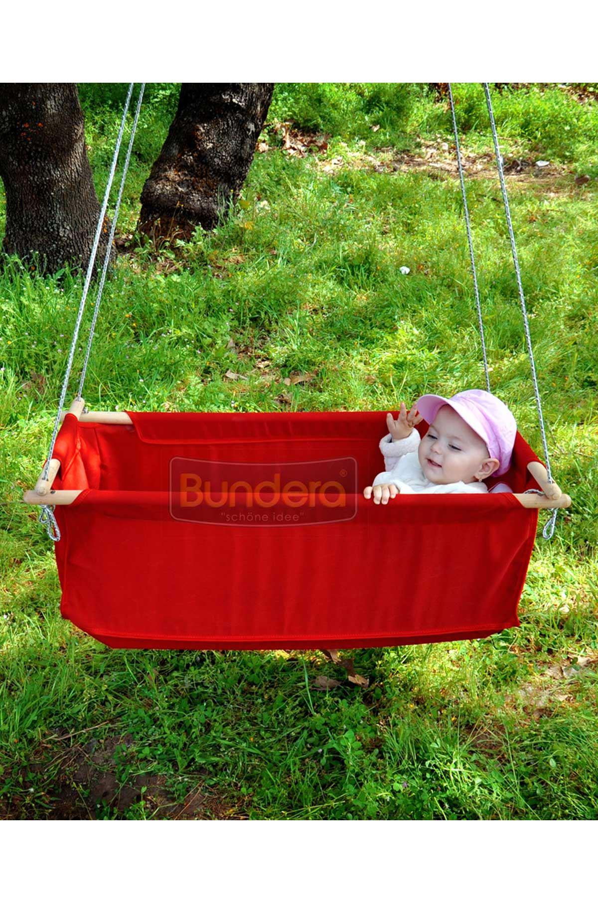 Kırmızı Bundera Sally Hamak Beşik Bebek Hamağı Bahçe Salıncağı