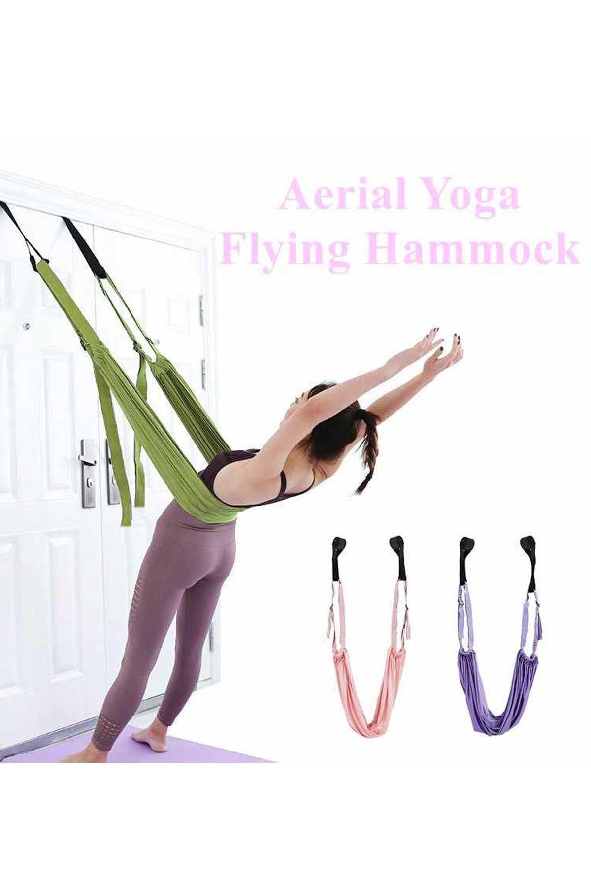 Yeşil Yoga Plus Pilates Fitness Hamağı Askılı Yoga Denge Spor Aleti