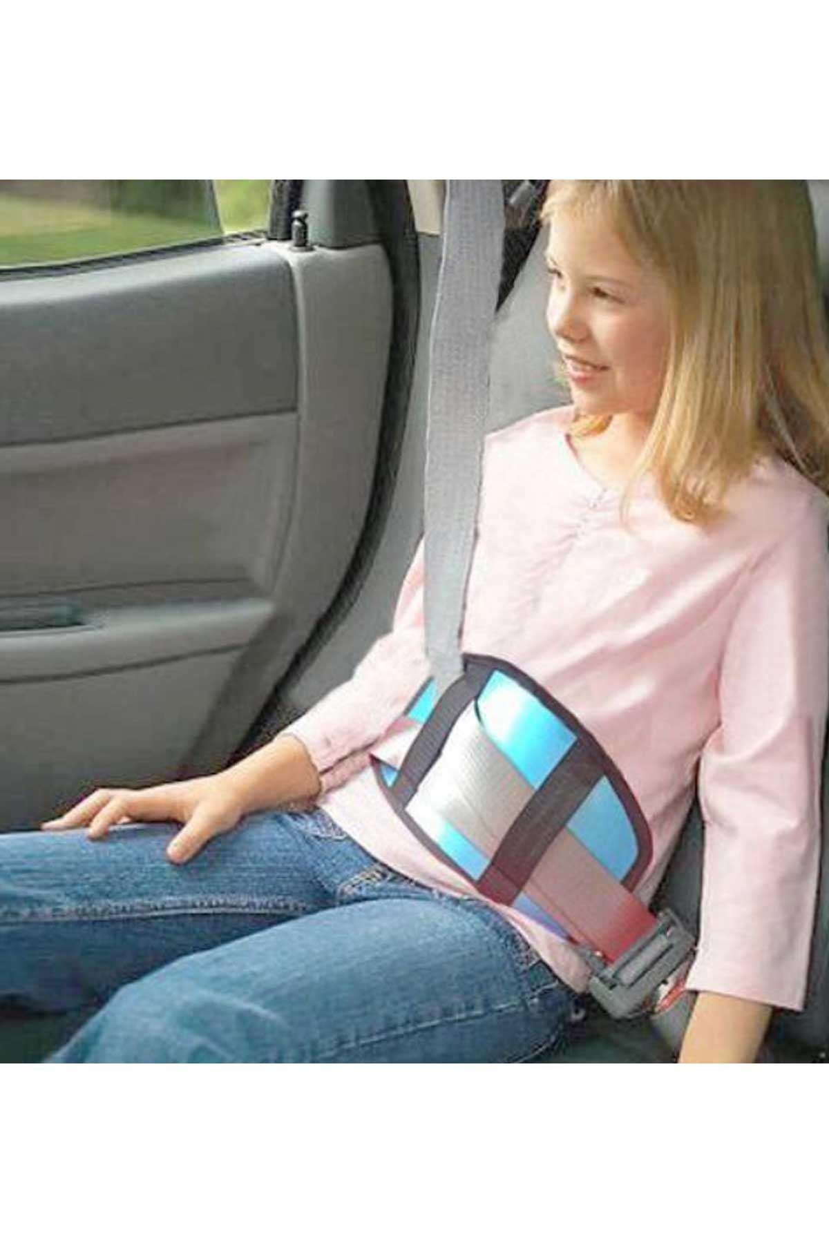 Mavi Soft Çocuk Emniyet Kemeri Düzenleyici Oto Emniyet Kemeri Tutucu
