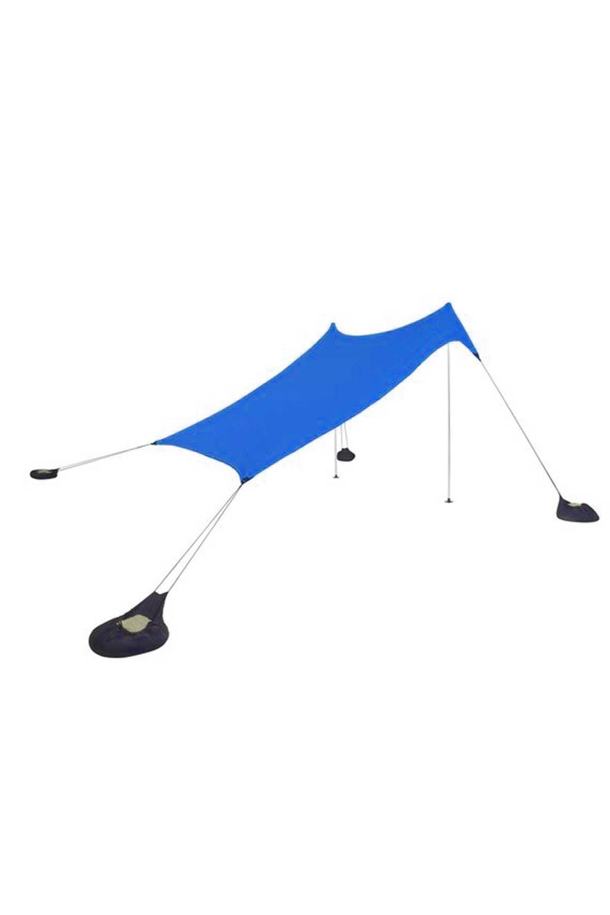 Mavi Bundera Zelt 2,30 Metre Gölgelik Güneşlik Tente Plaj Şemsiyesi