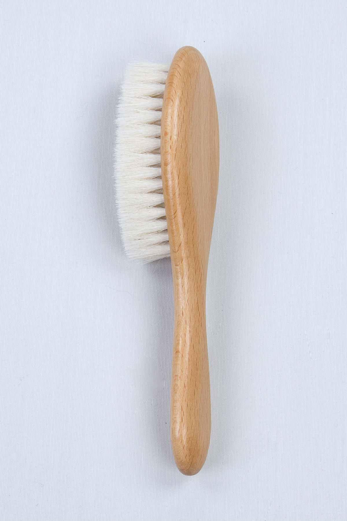 Doğal Ahşap Organik Yumuşak Bebek Saç Fırçası