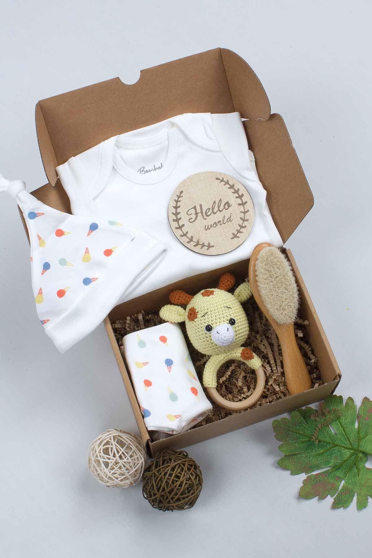 Yenidoğan Organik El Yapımı Özel Bebek Hediye Seti